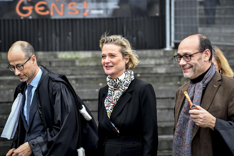 Yves-Henri Leleu, Delphine Boël et Marc Uyttendaele., BELGA PHOTO DIRK WAEM