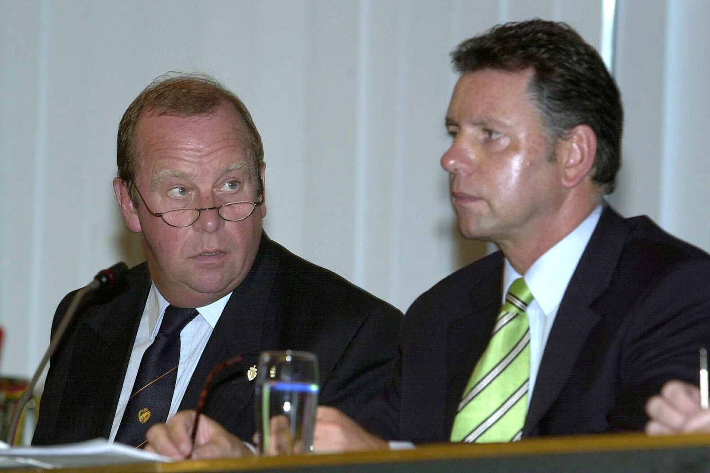 Michel D'Hooghe en Alain Courtois, Belga Image