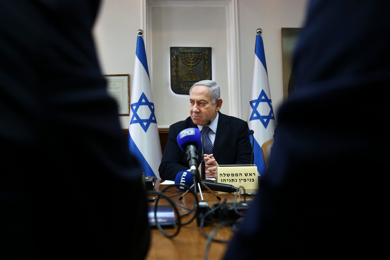 Benjamin Netanyahu, Oded Balilty / POOL / AFP