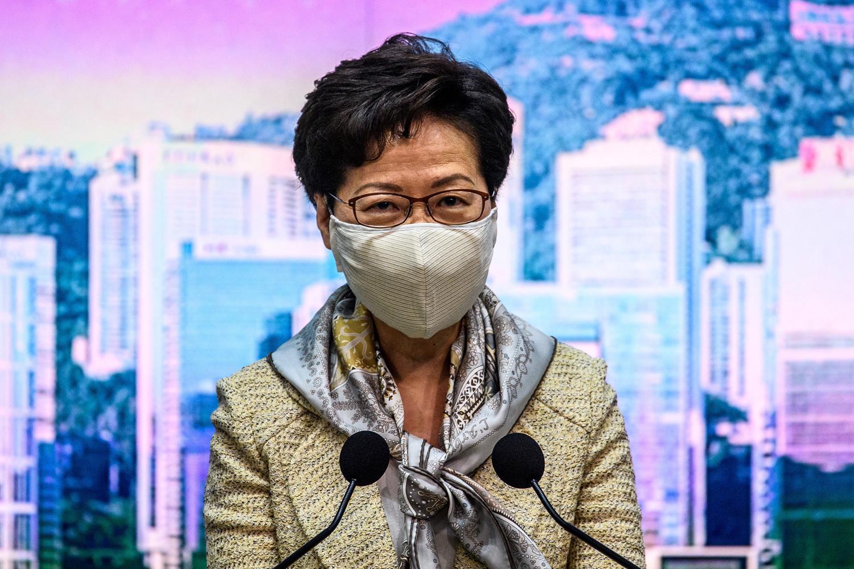 La plus haute dirigeante de Hong Kong, Carrie Lam., Belga