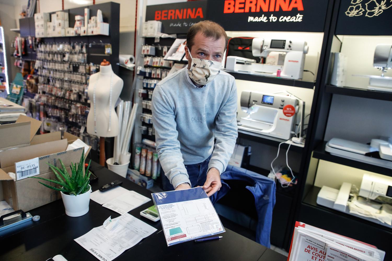 Olivier Bruynincx dans son magasin d'Ixelles., Belga Images
