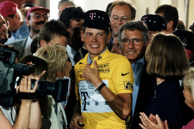 Jan Ullrich na zijn tourwinst in 1997, GETTY