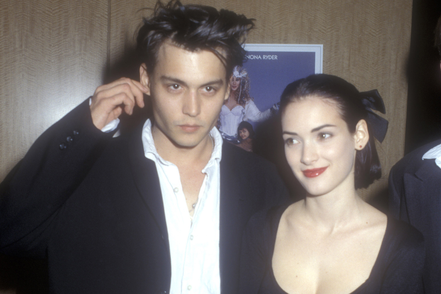 Winona Ryder et Johnny Depp en 1990, Getty Images