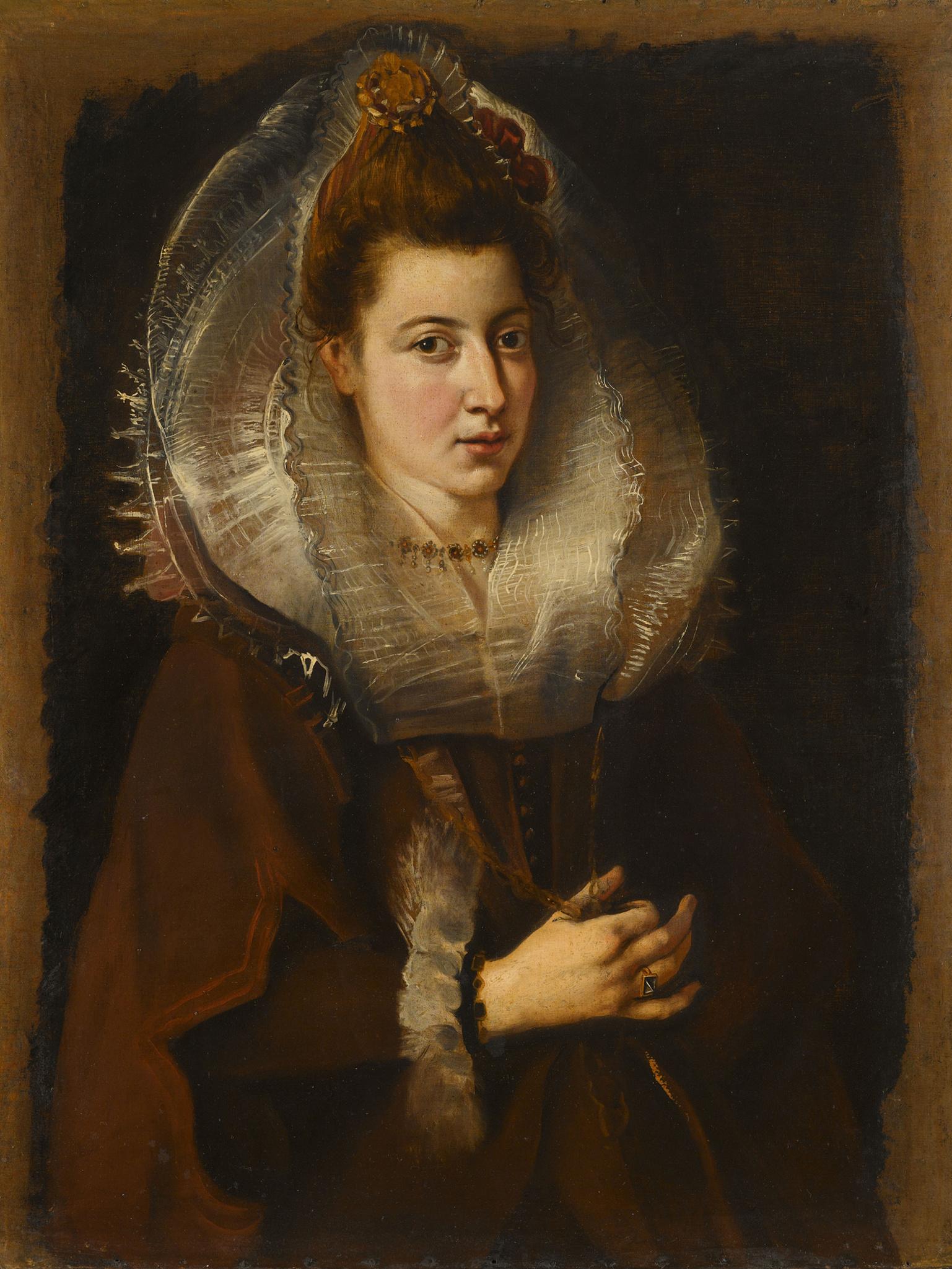 Peter Paul Rubens, Portret van een jonge vrouw met ketting, 1605-1606. Privécollectie., /