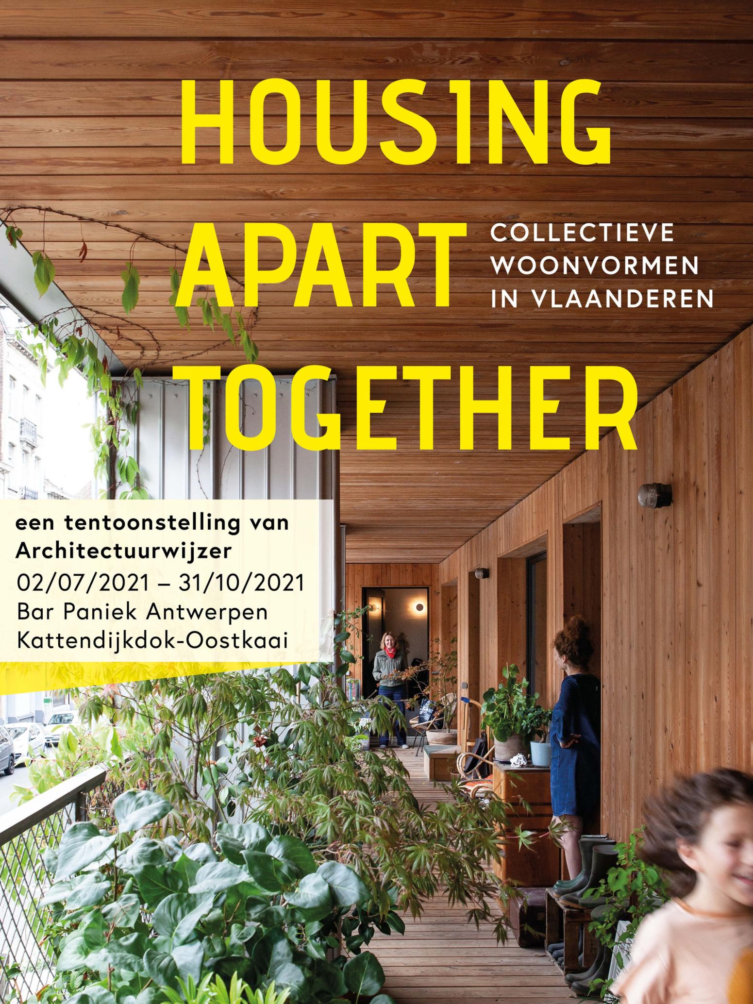 Affiche Housing Apart Together Antwerpen, Brecht Van Maele