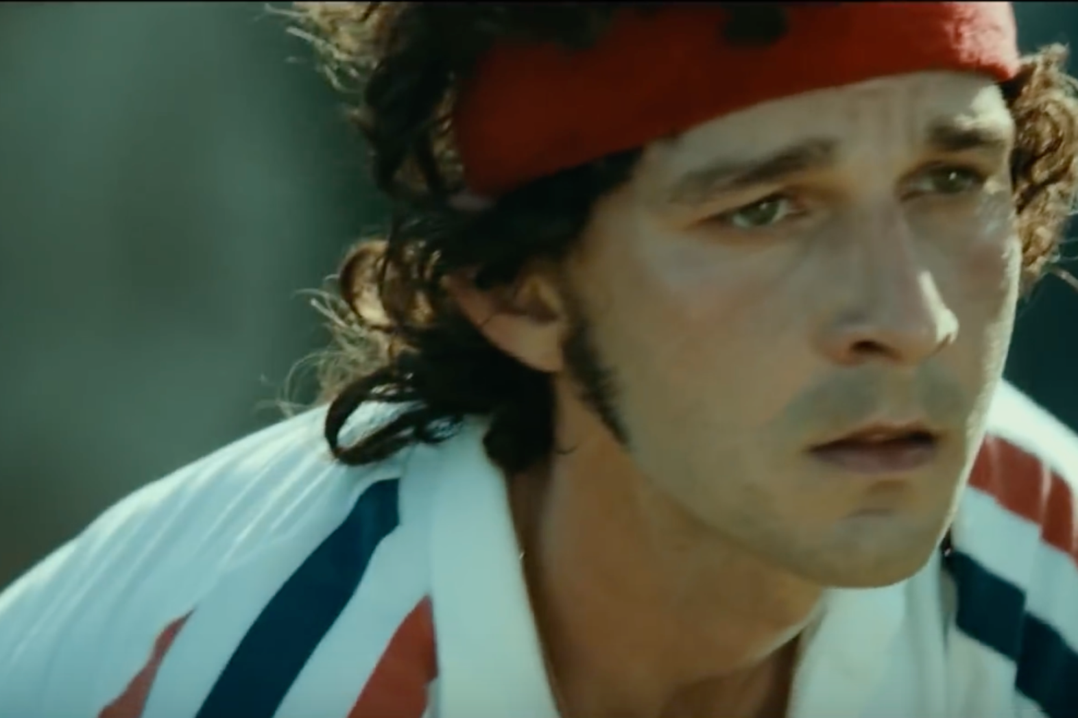 "Shia LaBoeuf dans ""Borg/McEnroe"", Capture d'écran Youtube"