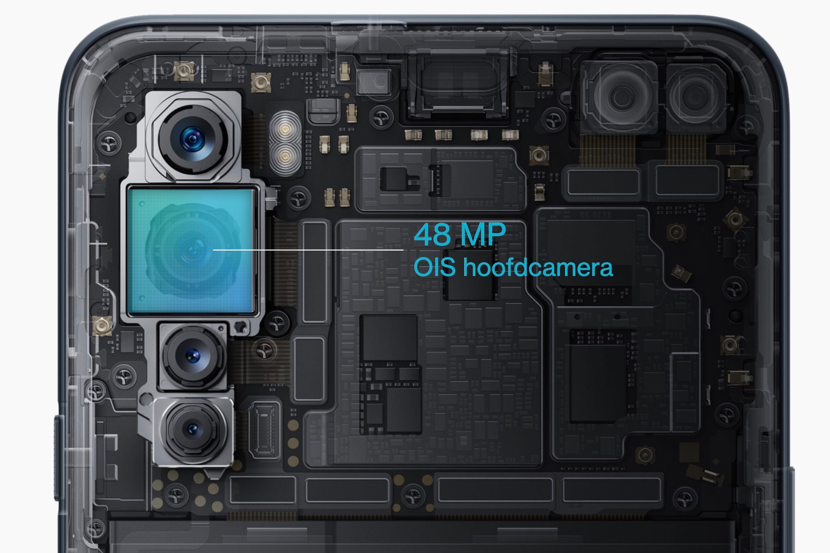 De vier camera's van de OnePlus Nord., OnePlus