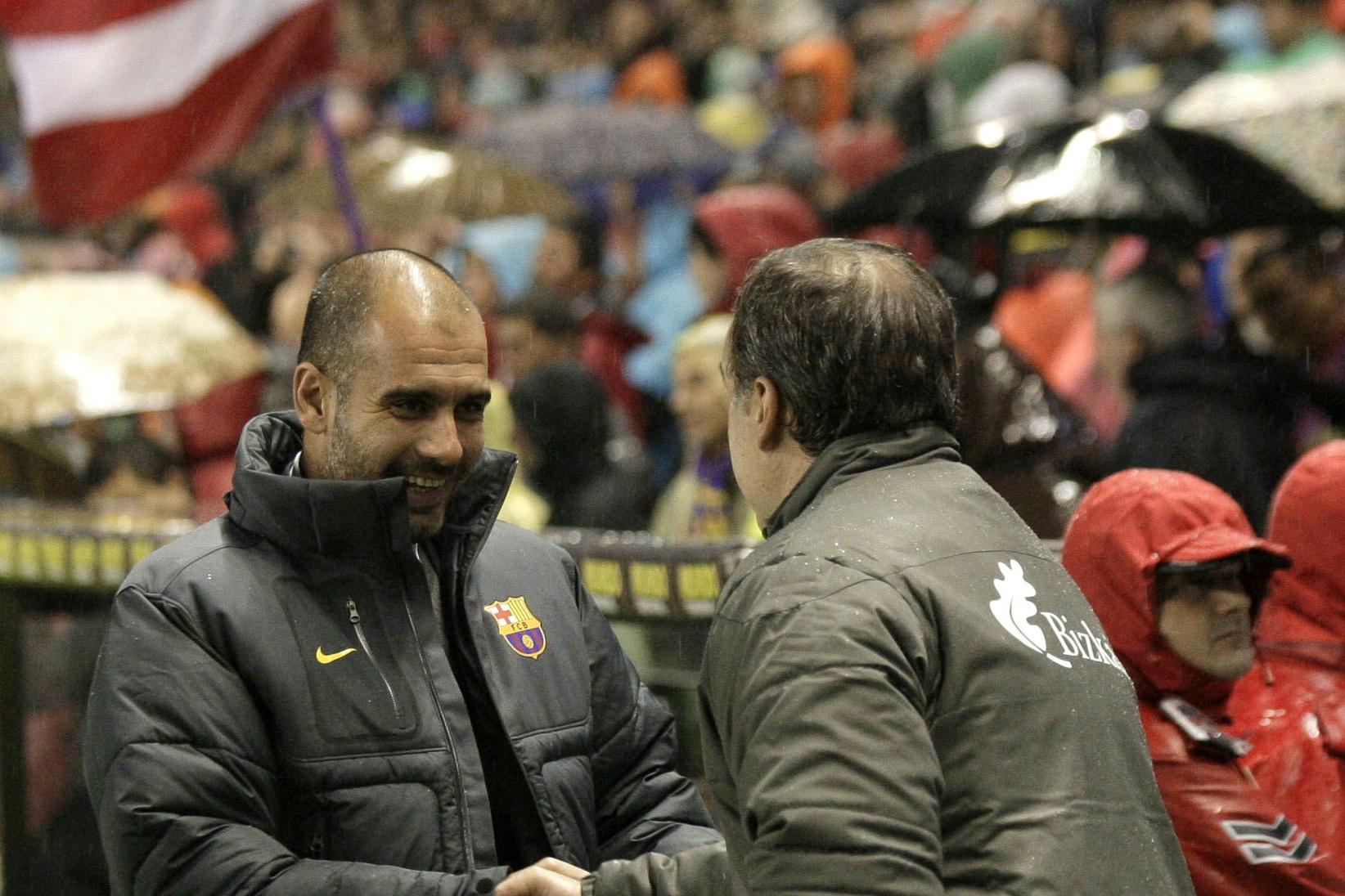 Pep Guardiola et Marcelo Bielsa., belga