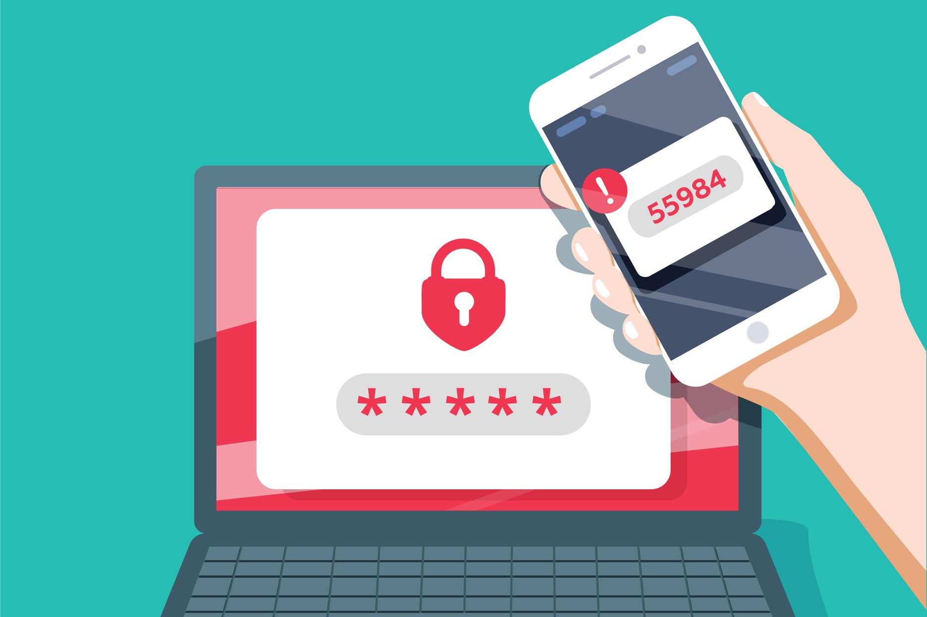 Met two-factor-authentication heb je naast je wachtwoord ook een extra unieke code of bevestiging nodig om in te loggen., Getty Images