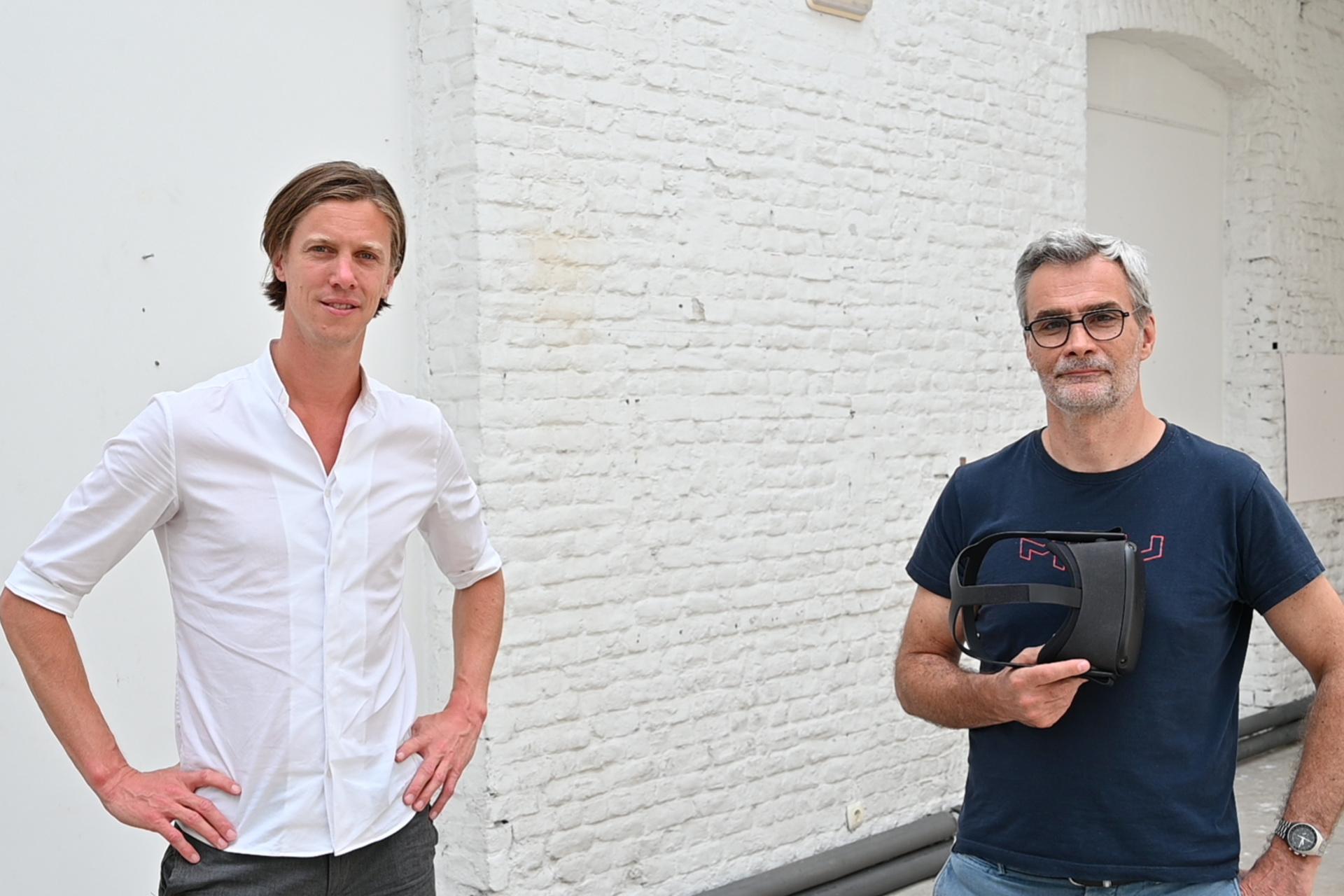 PresenZ-COO Matthieu Labeau (l) met naast hem CEO Tristan Salomé., PresenZ