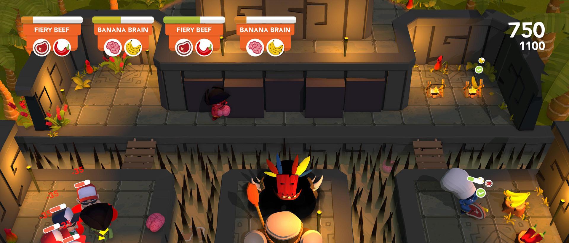 Een beeld uit kookgame Cannibal Cuisine, Rocket Vulture