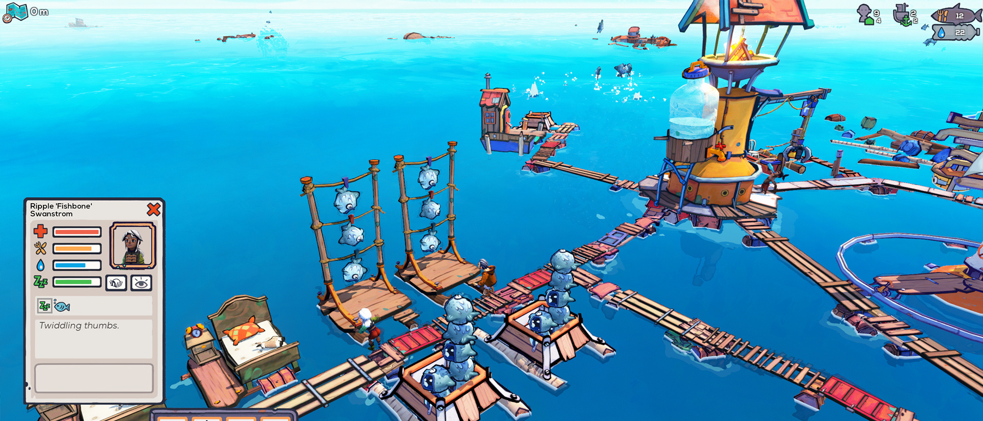 Een screenshot uit de game Flotsam, .