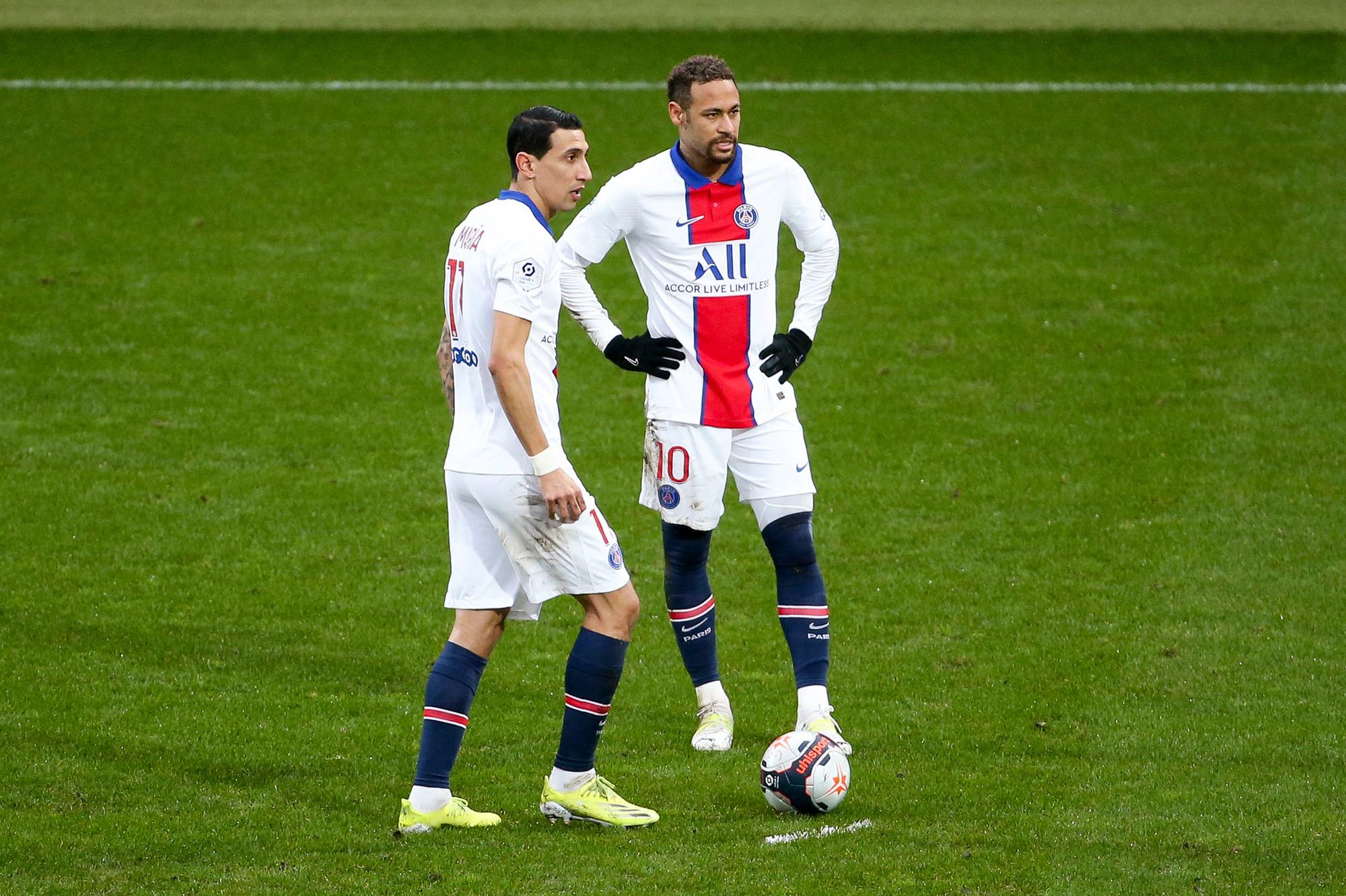 Neymar en Angel Di Maria zouden Messi maar al te graag naar Parijs zien komen, Belga Image