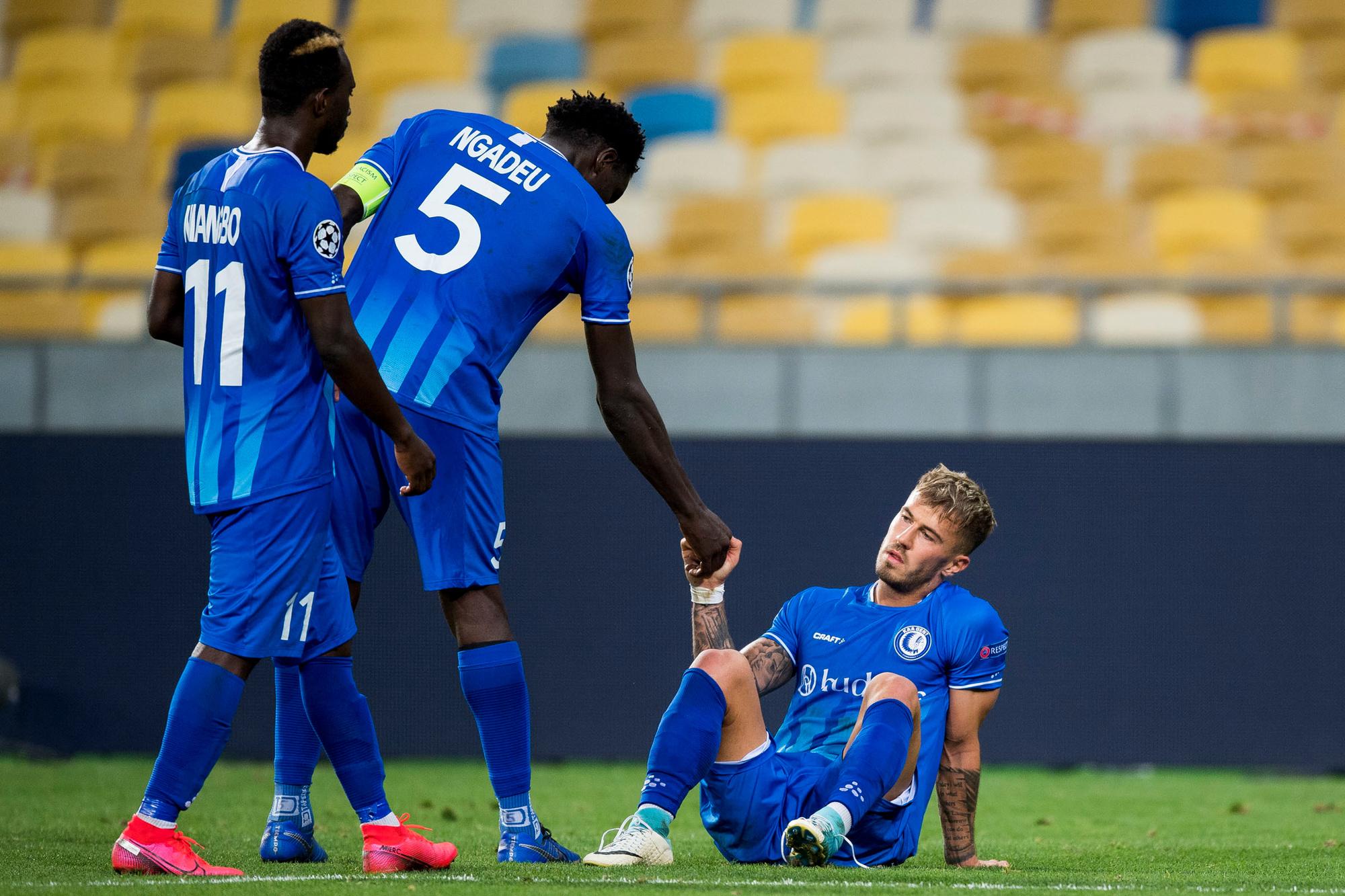 KAA Gent verdiende geen punten door de uitschakeling in de play-offs van de Champions League., Belga Image