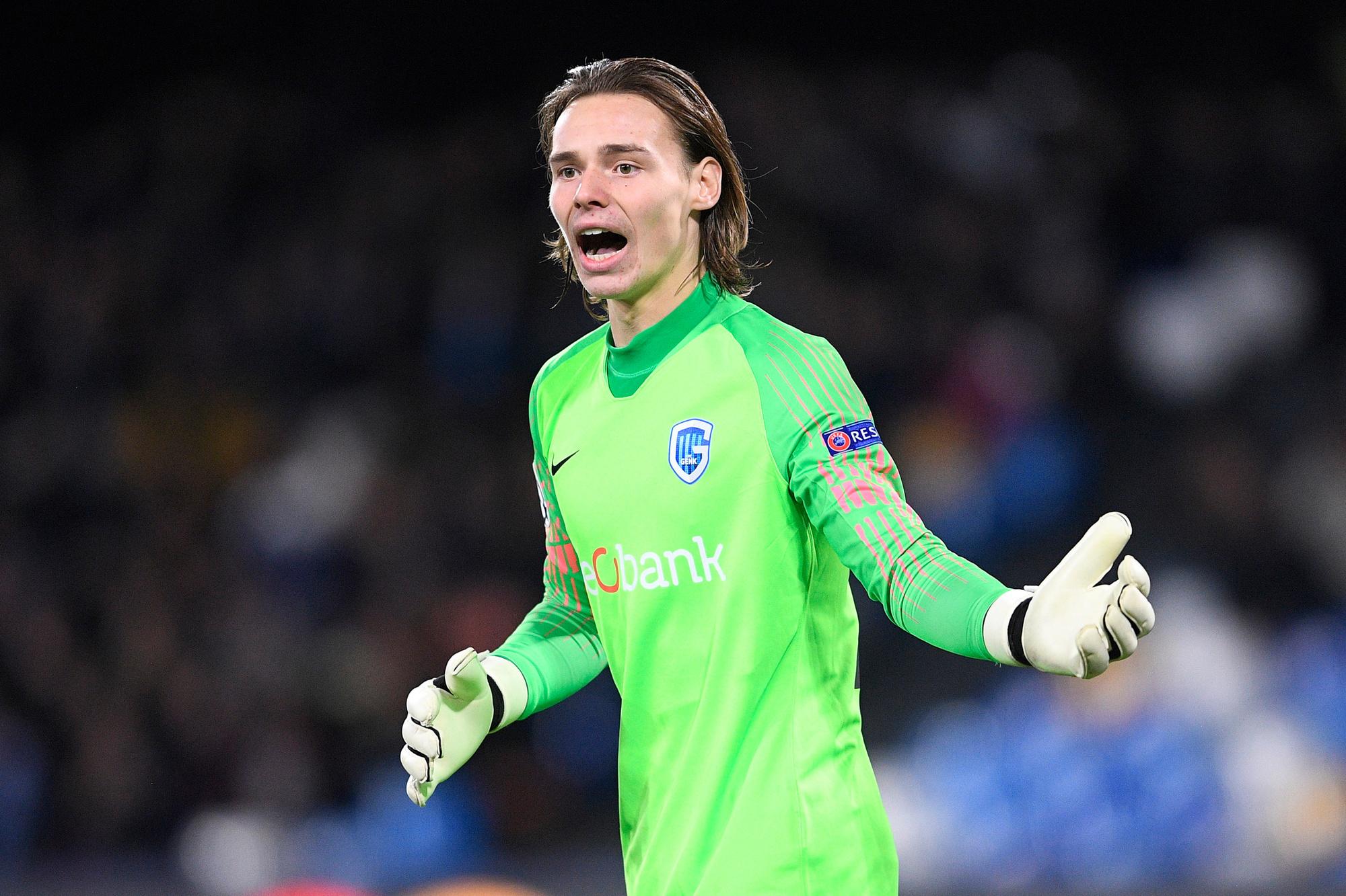 Het werd geen succesvolle campagne, maar Vandevoordt is wel de jongste keeper ooit in de Champions League., Belga Image