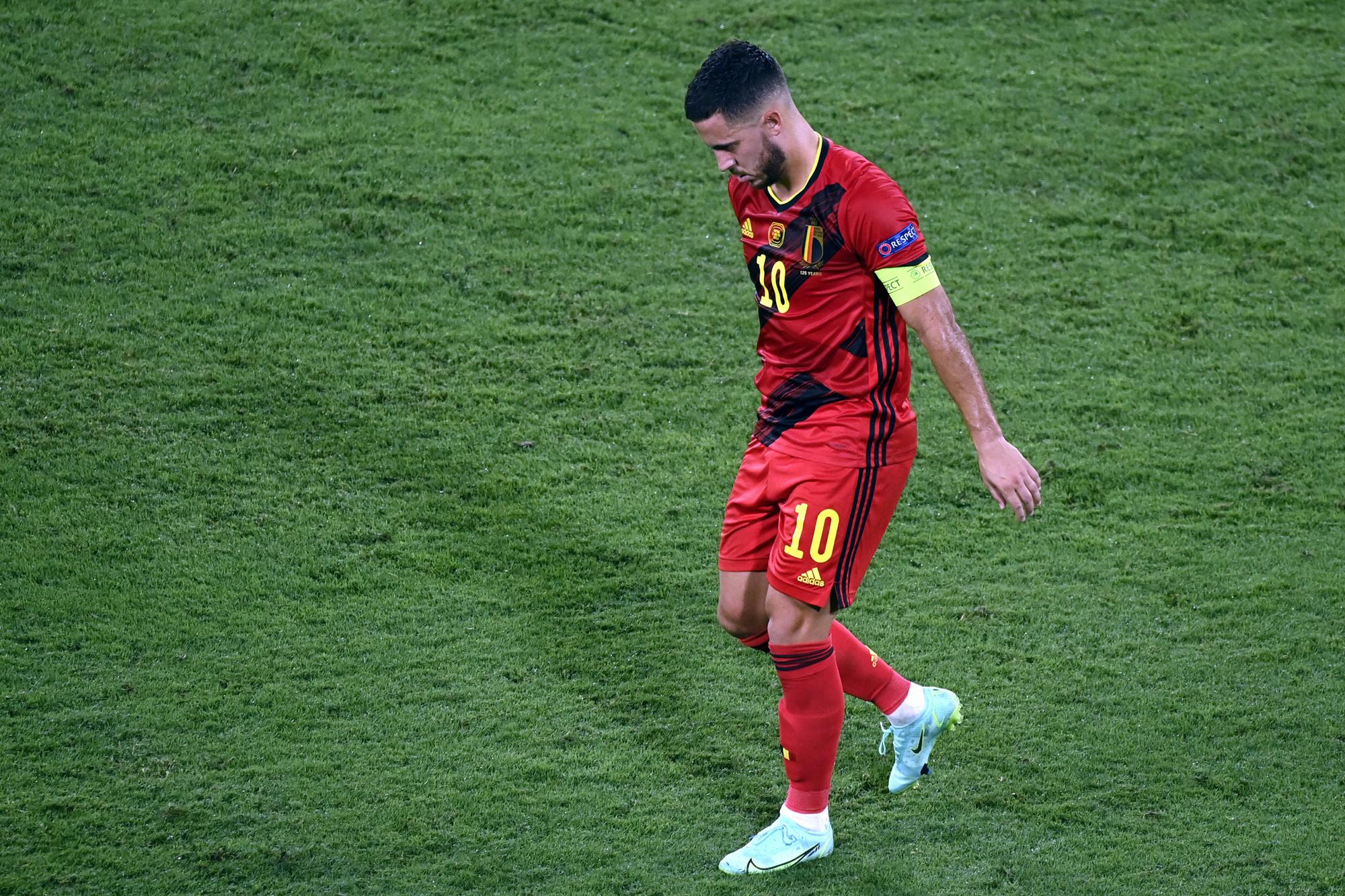Eden Hazard was een van de vier Belgen die zich op het EK blesseerden., Belga Image
