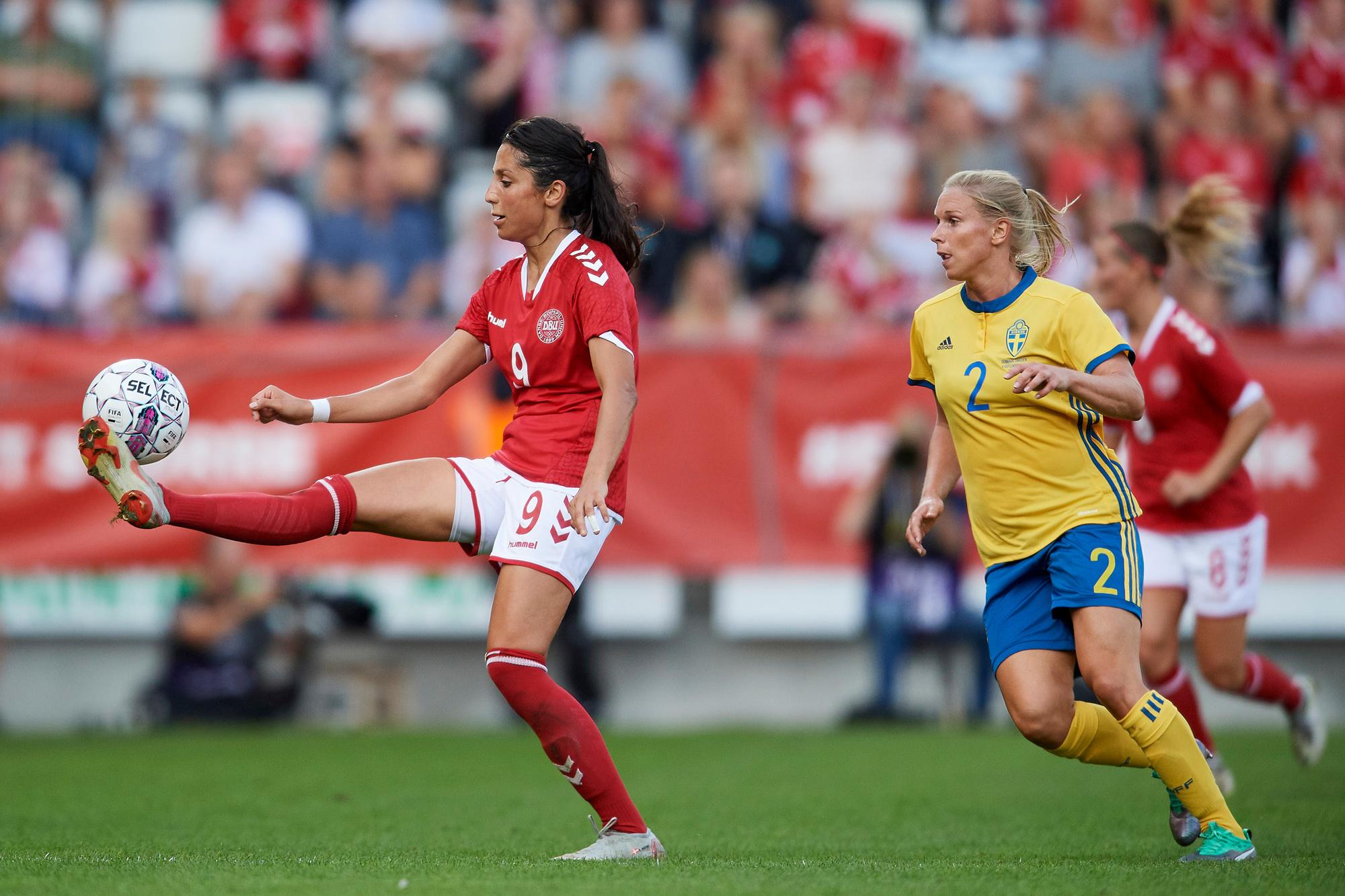 Nadia Nadim speelt nu voor de Deense nationale ploeg, GETTY