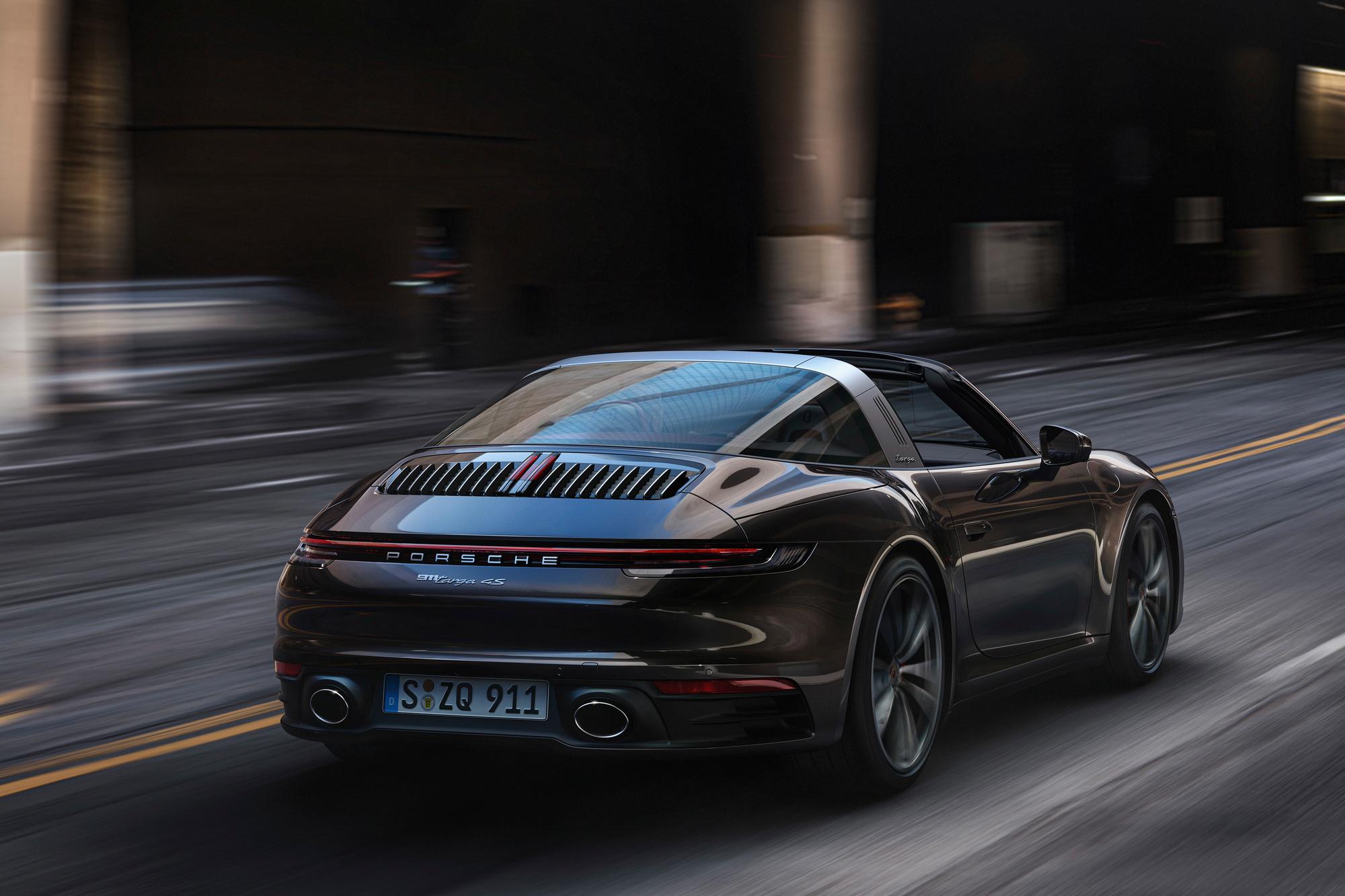 La 911 (ici une version Targa 4S) ne représente plus que 13 % du volume total des ventes., GF
