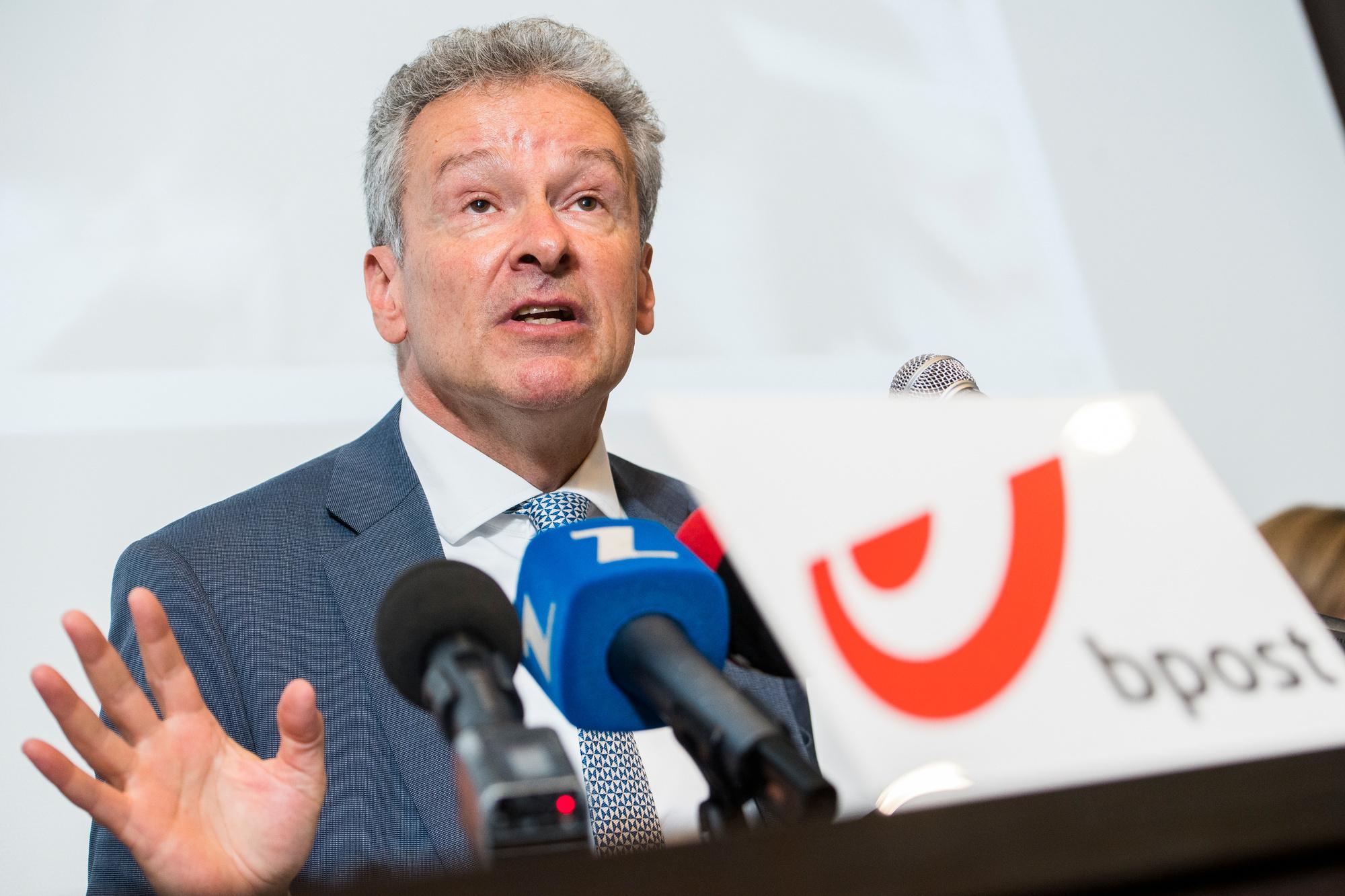 Koen Van Gerven, alors qu'il était le CEO de bpost., belgaimage