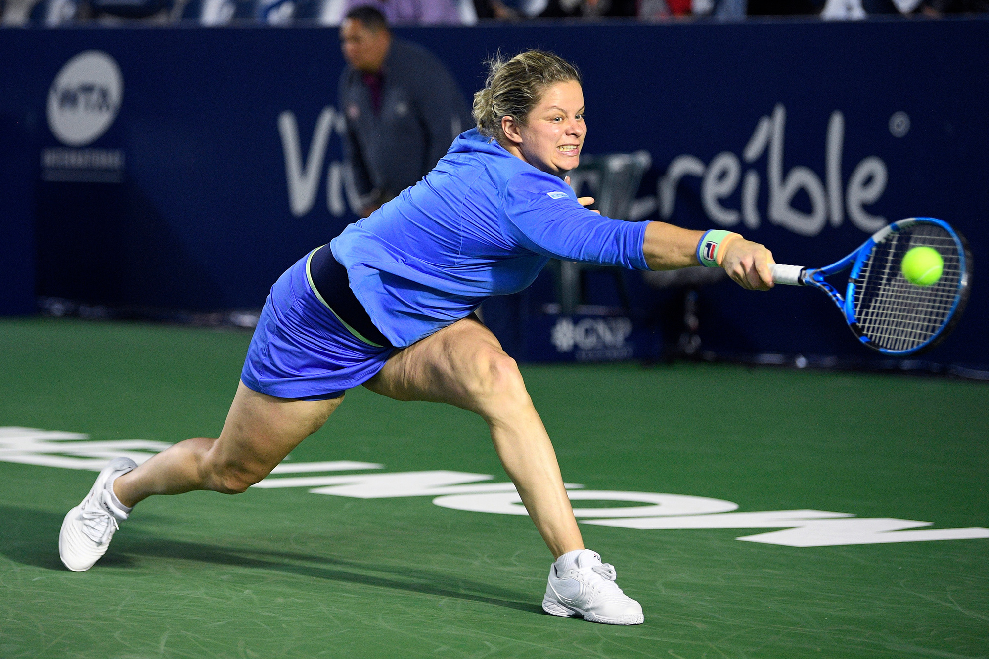 De comeback van Kim Clijsters duurde voorlopig nog maar twee wedstrijden., Belga Image