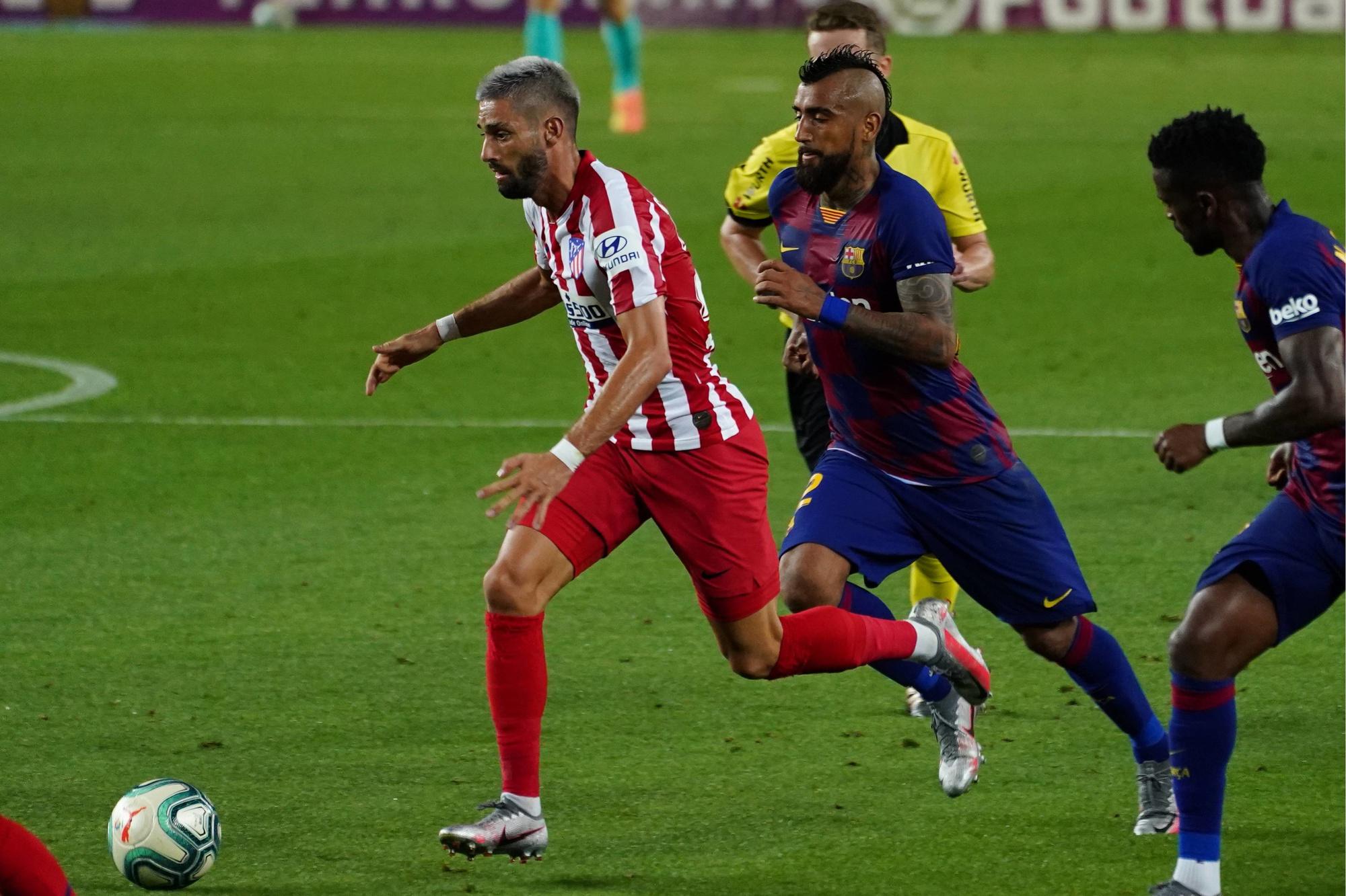 Lors du choc face au Barça d'Arturo Vidal., CORDONPRESS