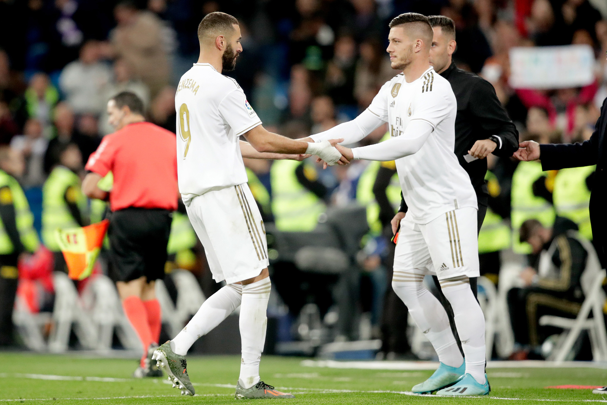 Jovic moest het het gemis van Ronaldo opvangen, maar voorlopig lijkt Real nog te afhankelijk van Benzema., GETTY