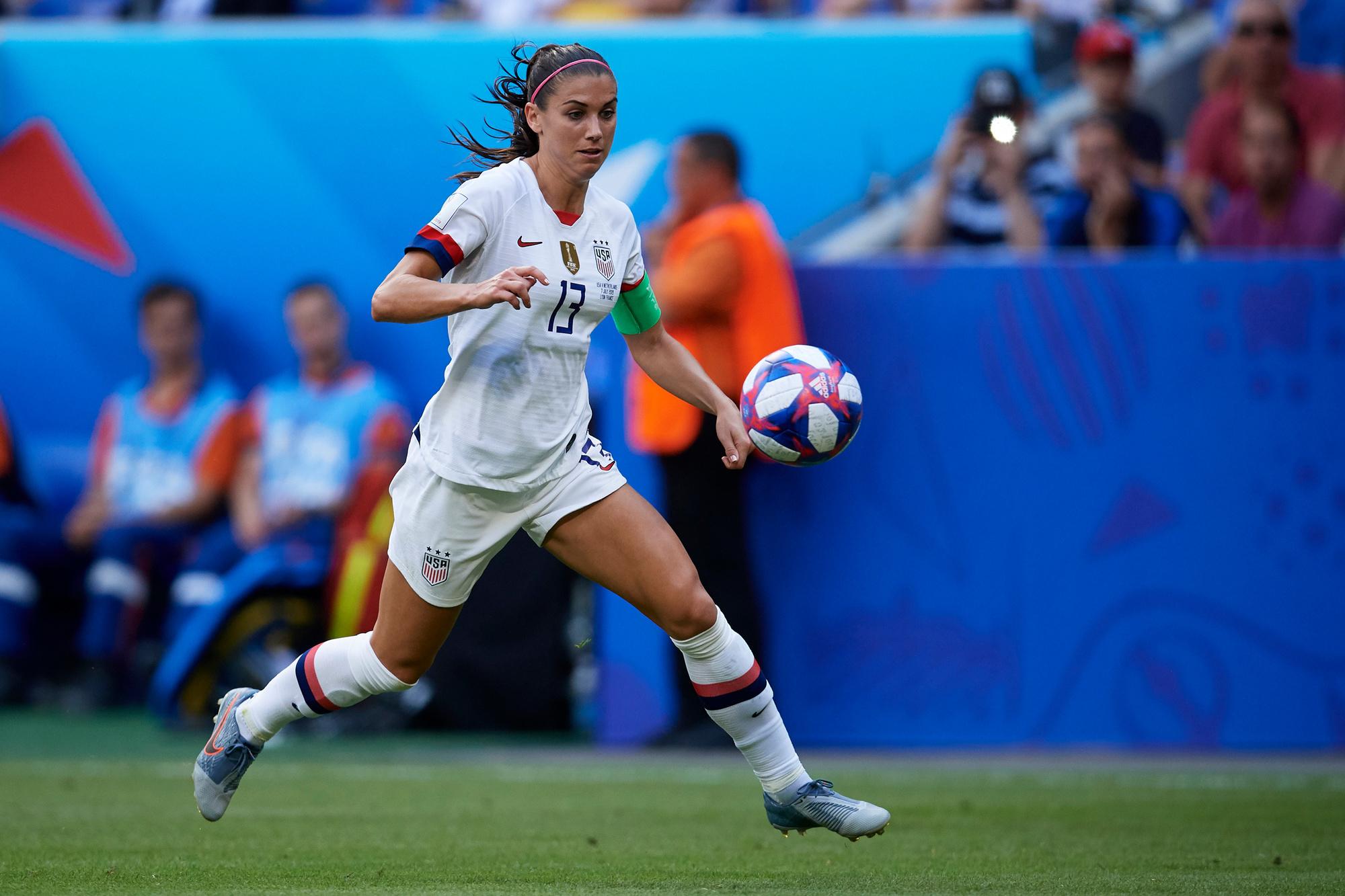 Alex Morgan is een van dé sterren van het hedendaags vrouwenvoetbal, GETTY