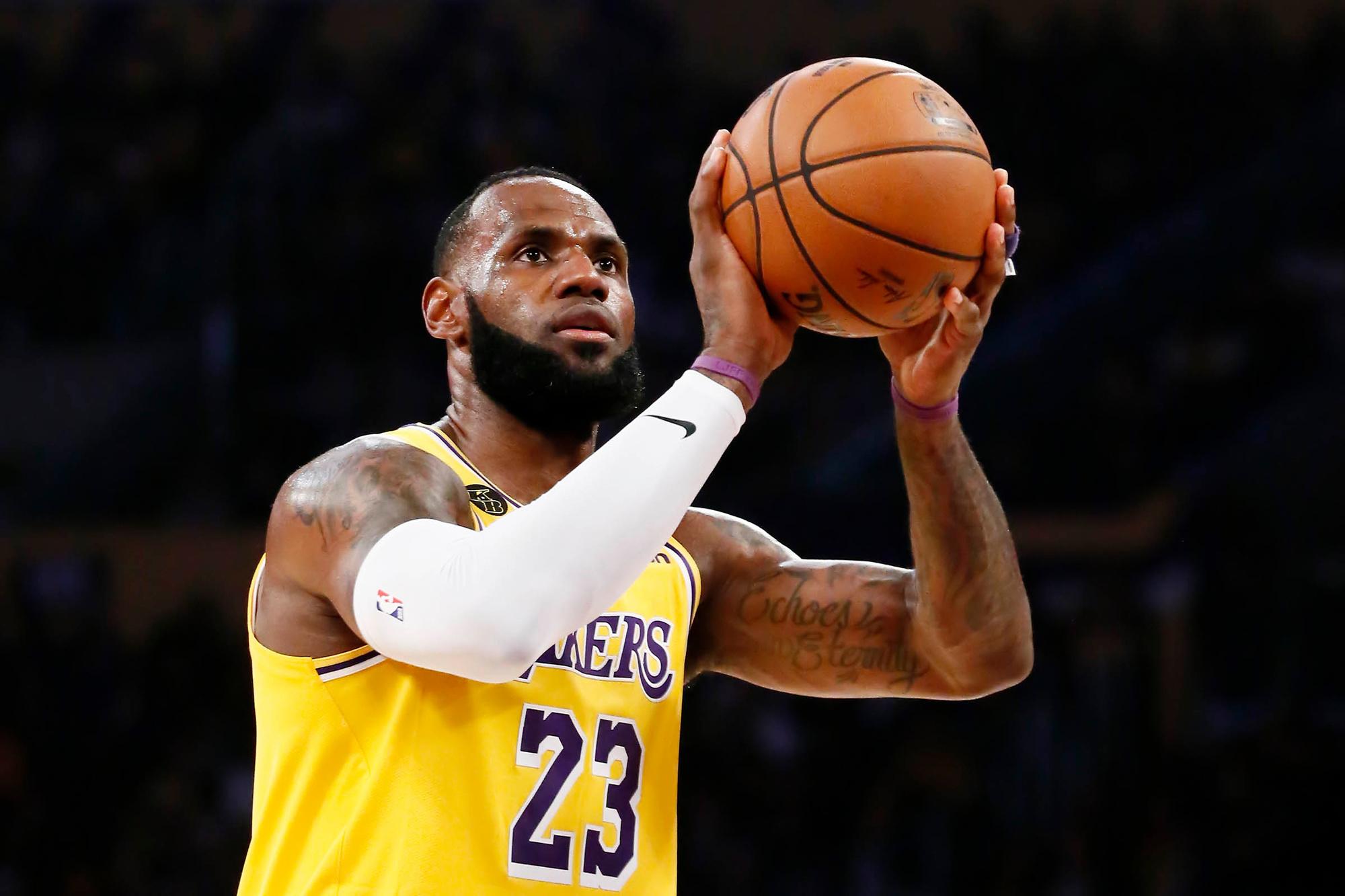 LeBron James gaat deze zomer op jacht naar zijn eerste NBA-titel met de Los Angeles Lakers, GETTY