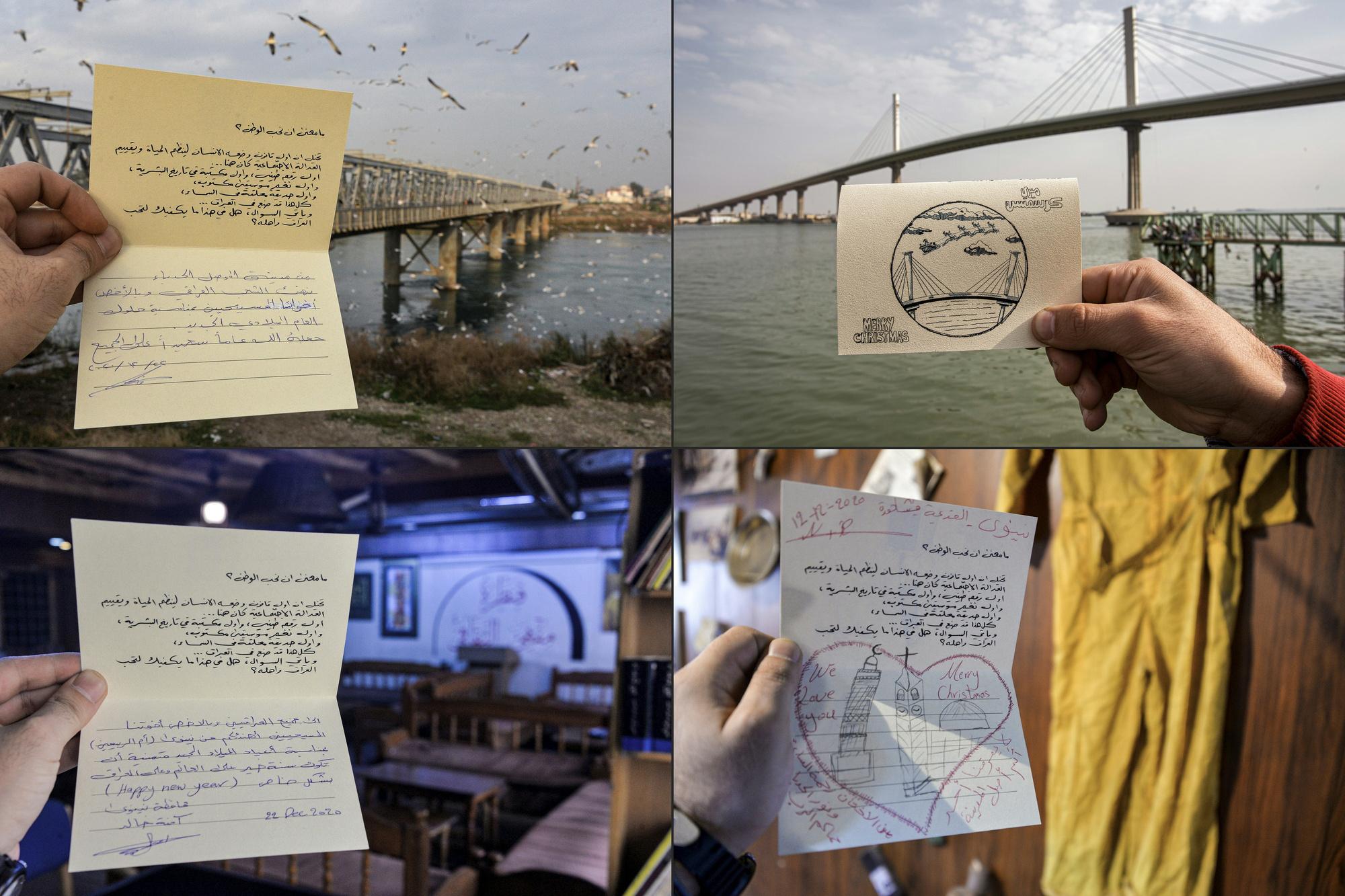 Cartes de voeux envoyées aux résidents de Qaraqosh, Zaid AL-OBEIDI, Hussein FALEH / AFP