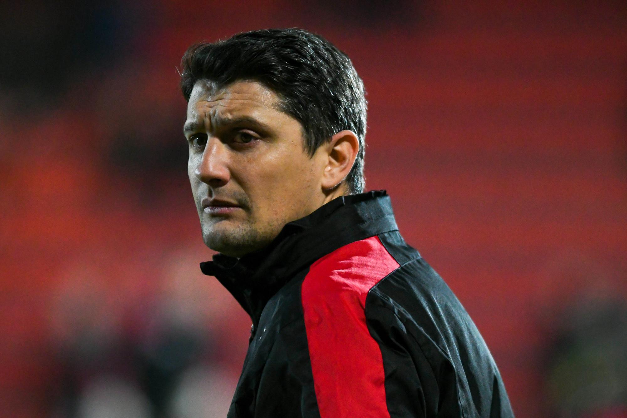 Luigi Pieroni als assistent-coach bij Seraing, Belga Image