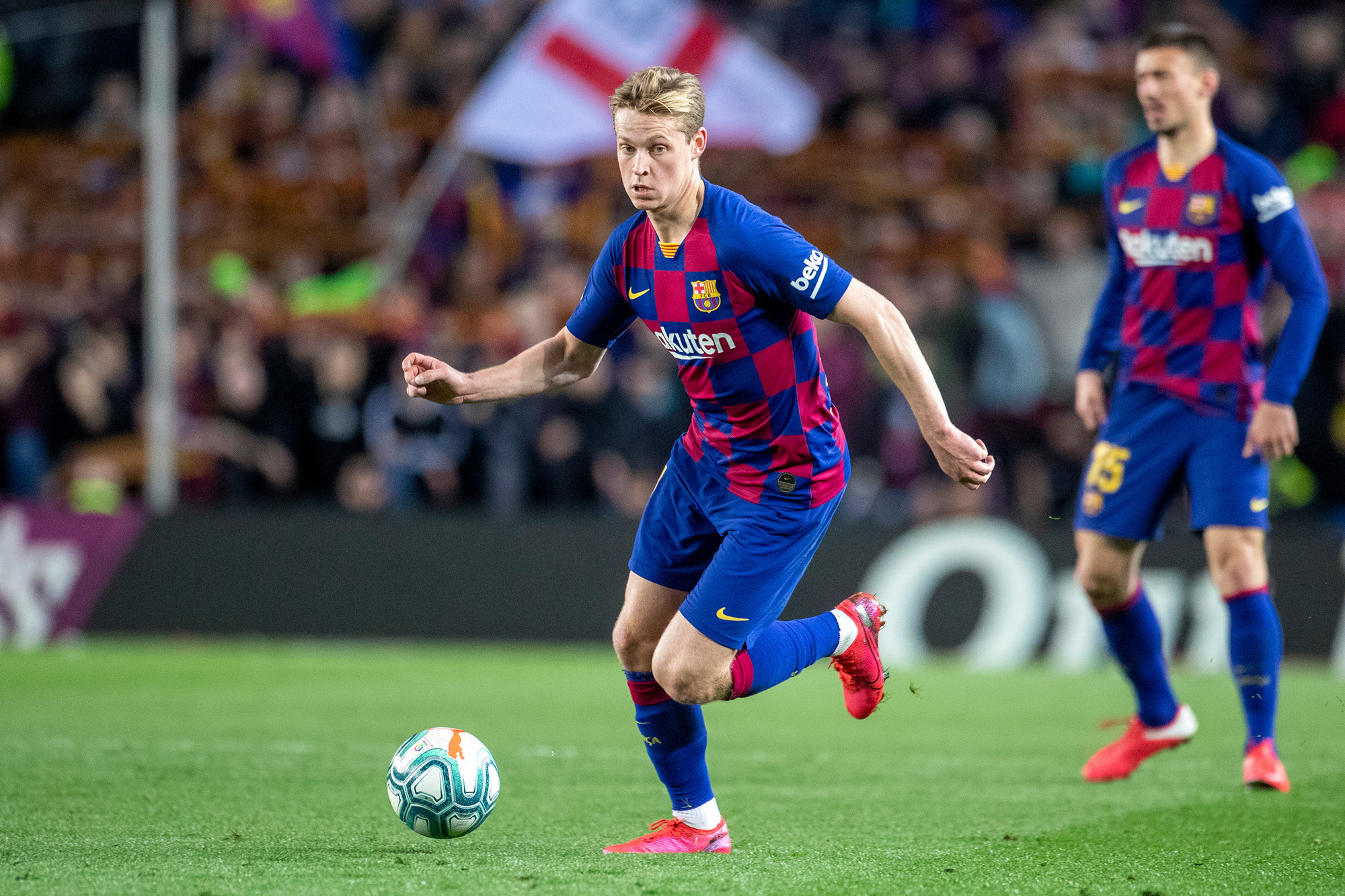 Frenkie de Jong heeft zich nog niet helemaal kunnen tonen bij Barcelona, maar volgend seizoen zal dat zeker wel komen, GETTY