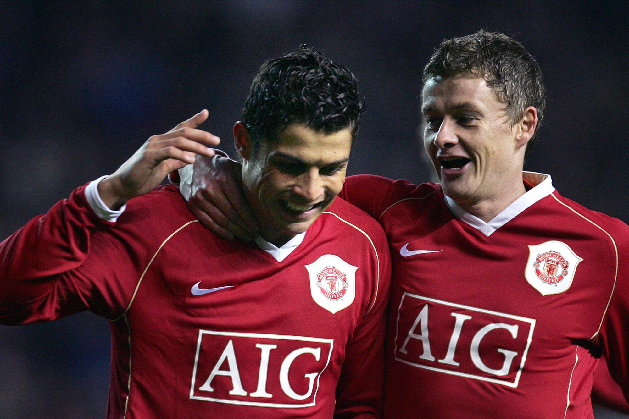 Cristiano Ronaldo et Ole Gunnar Solskjaer étaient encore équipiers sur le terrain lors du premier passage de CR7 à Old Trafford. Désormais, le Norvégien sera son entraîneur., belga