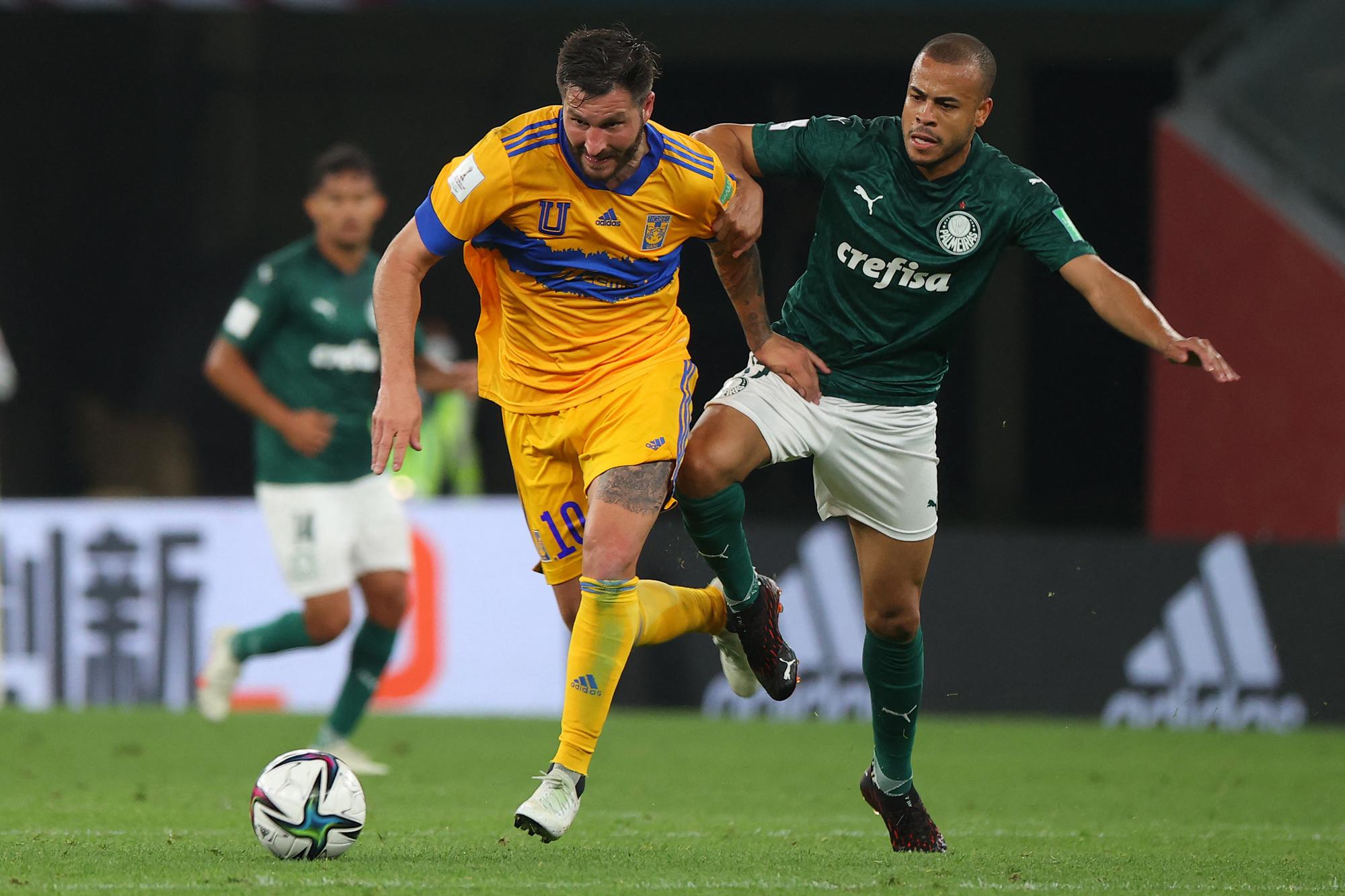 Le Français André-Pierre Gignac est qualifié pour la finale du Mondial des clubs avec les Tigres de Monterrey., AFP (Karim JAAFAR)