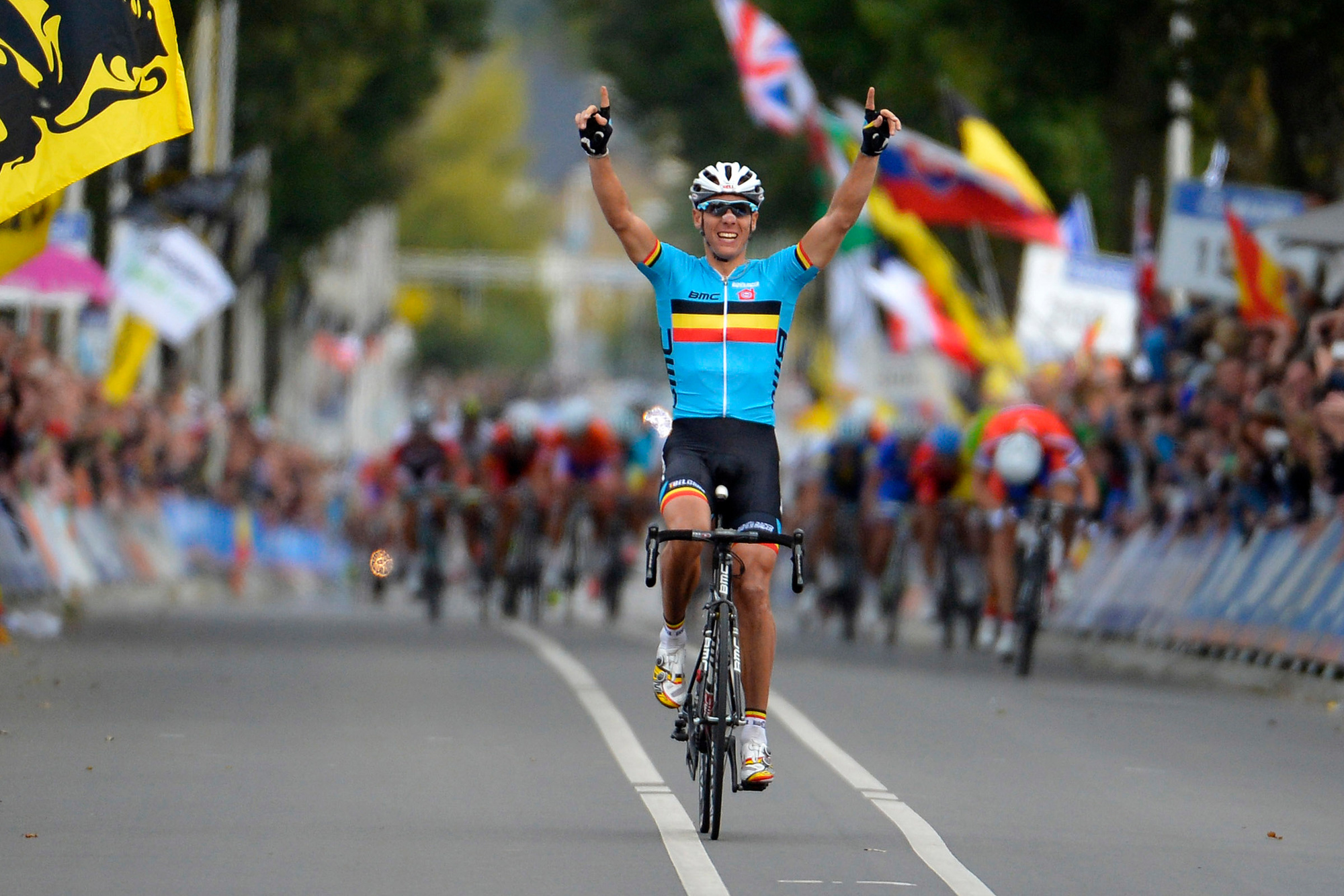 Philippe Gilbert, de laatste Belgische wereldkampioen, Belga Image
