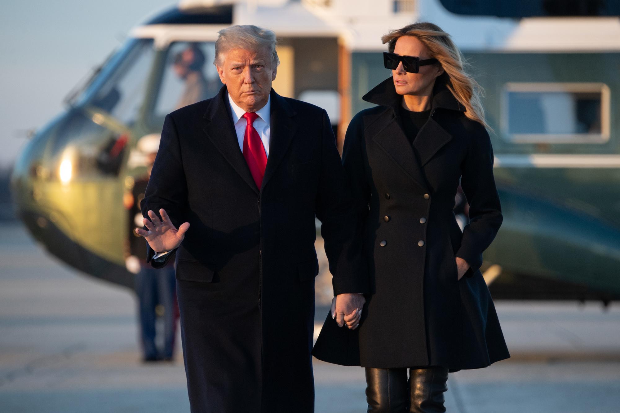 Donald et Melania Trump, à Mar-a-Lago pour Noël, SAUL LOEB / AFP