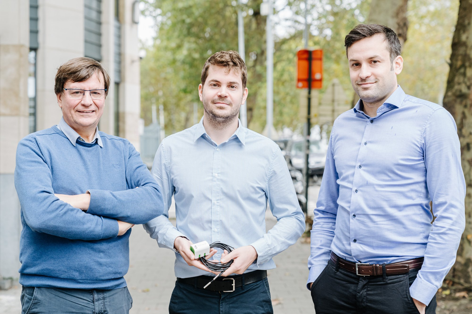 Het team achter de start-up, vlnr: Eric Dirix, Pieter Dirix en CEO en co-founder Jacques Bolzer., Bcheck