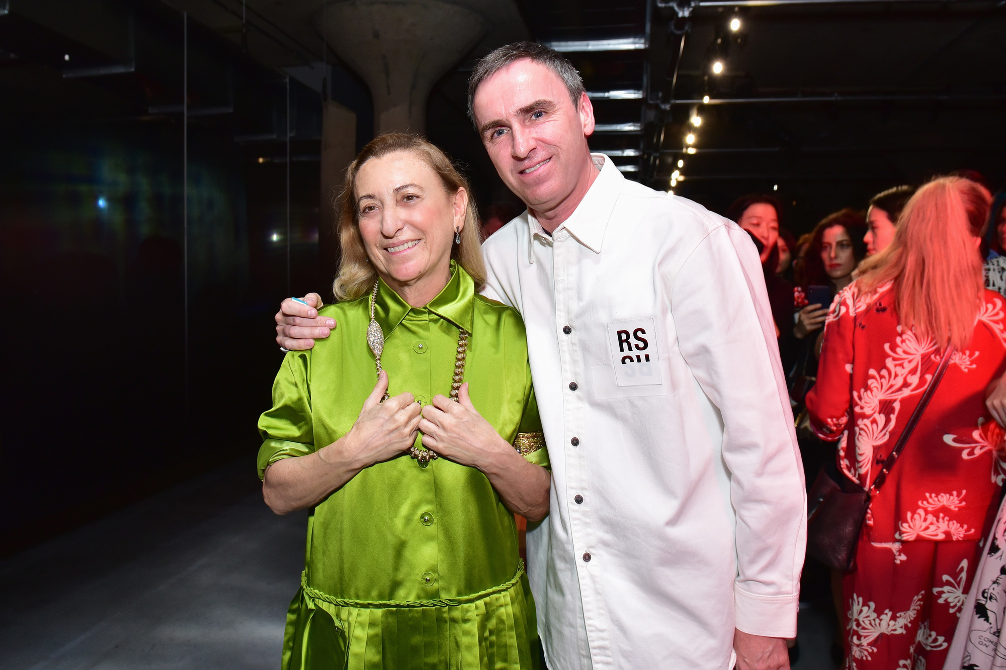 Raf Simons en Miuccia Prada, Getty Images