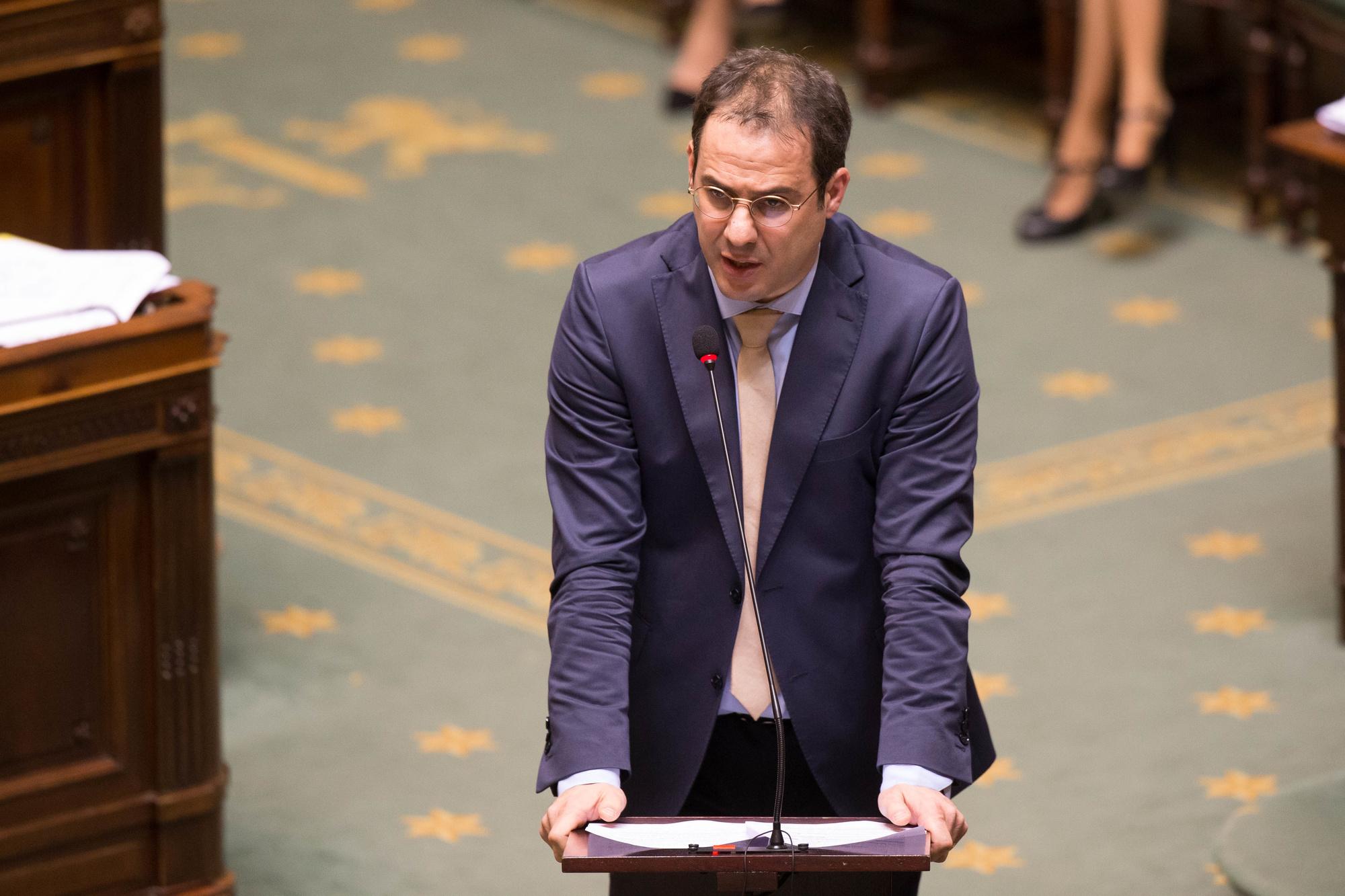 Le ministre du Budget, David Clarinval (MR)., belga