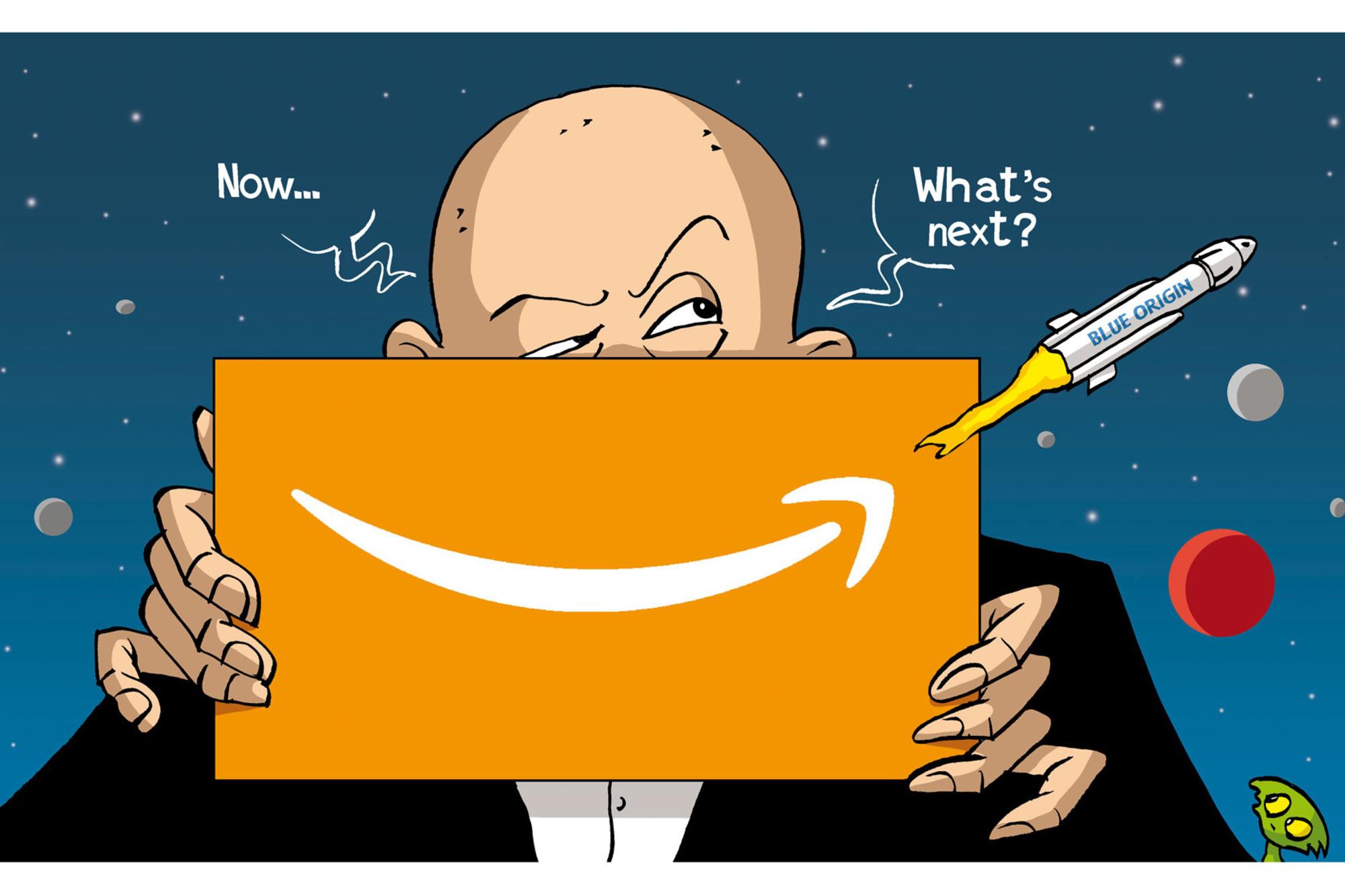 Jeff Bezos quitte la direction d'Amazon et s'apprête à s'envoler dans l'espace., Vadot