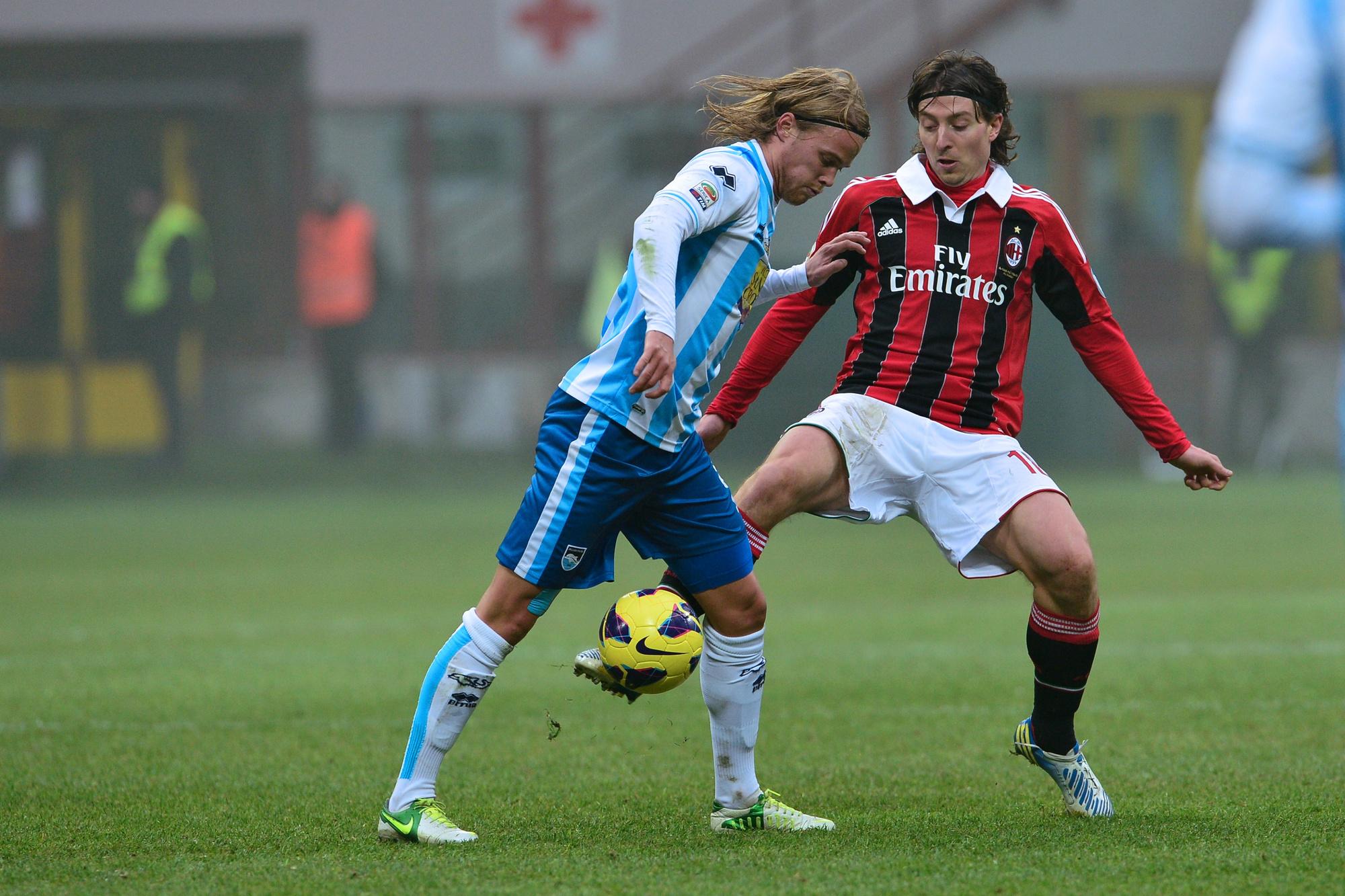 Avec Pescara face au Milan AC., belga