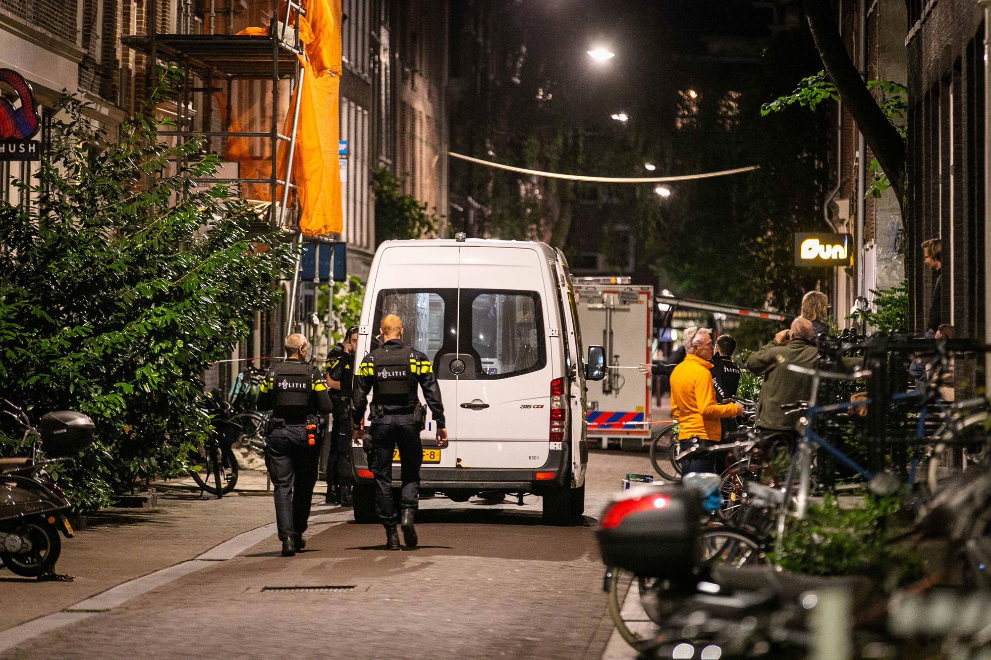 De politie was massaal gemobiliseerd na de aanslag, Belga