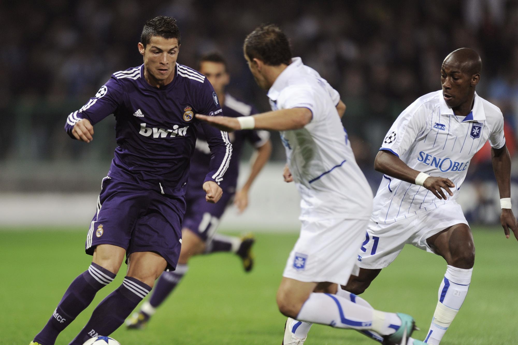 Face au Real Madrid de Ronaldo avec Auxerre en Champions League., belga