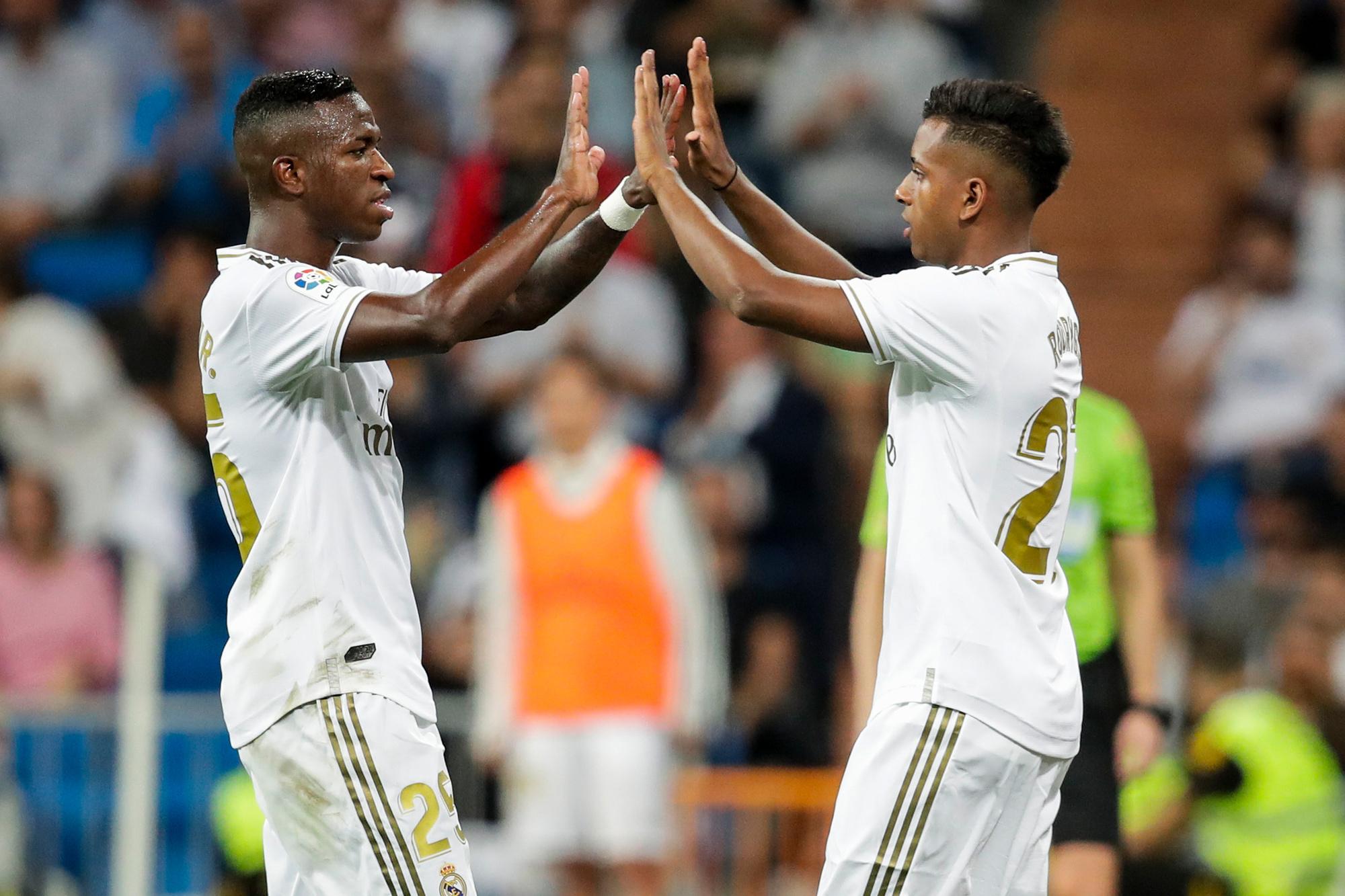 Vinicius en Rodrygo, de twee Braziliaanse goudhaantjes van Real Madrid, GETTY