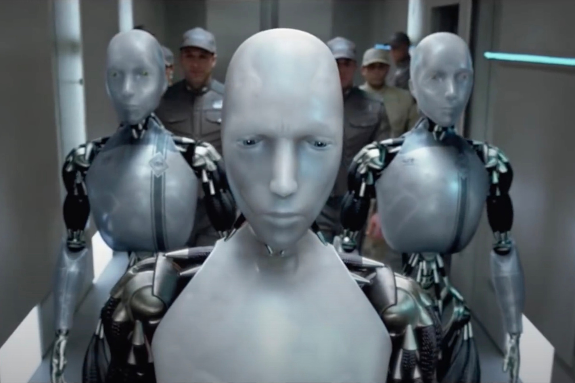 Een scène uit de film I, Robot., 20th Century Fox