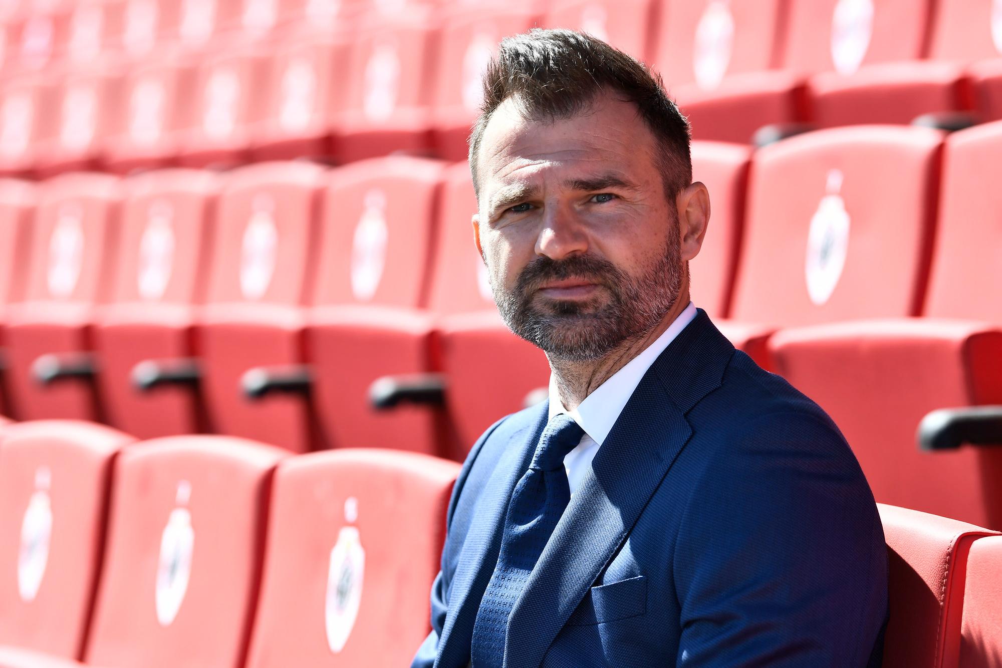 Ivan Leko bij zijn aanstelling als nieuwe coach van Antwerp, Belga Image
