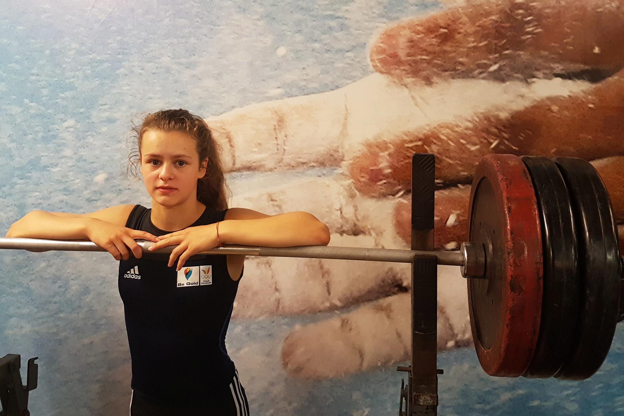 Nina Sterckx moet voor Belgische medailles zorgen in het gewichtheffen., Belga Image