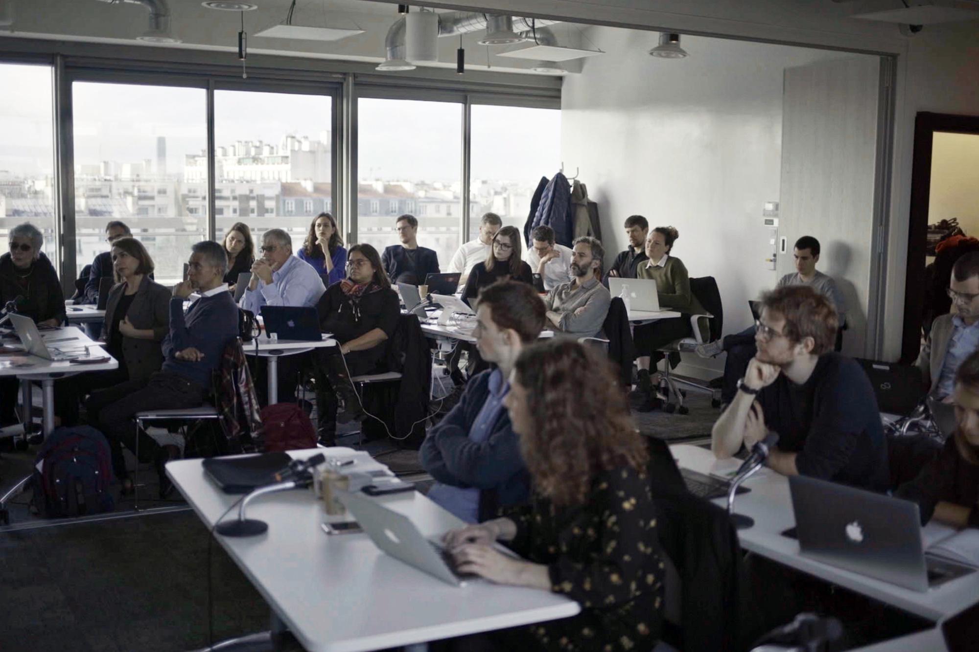 Parijs, maart 2020. Forbidden Stories lanceert het onderzoek The Cartel Project met journalisten uit 18 landen., Forbidden Stories