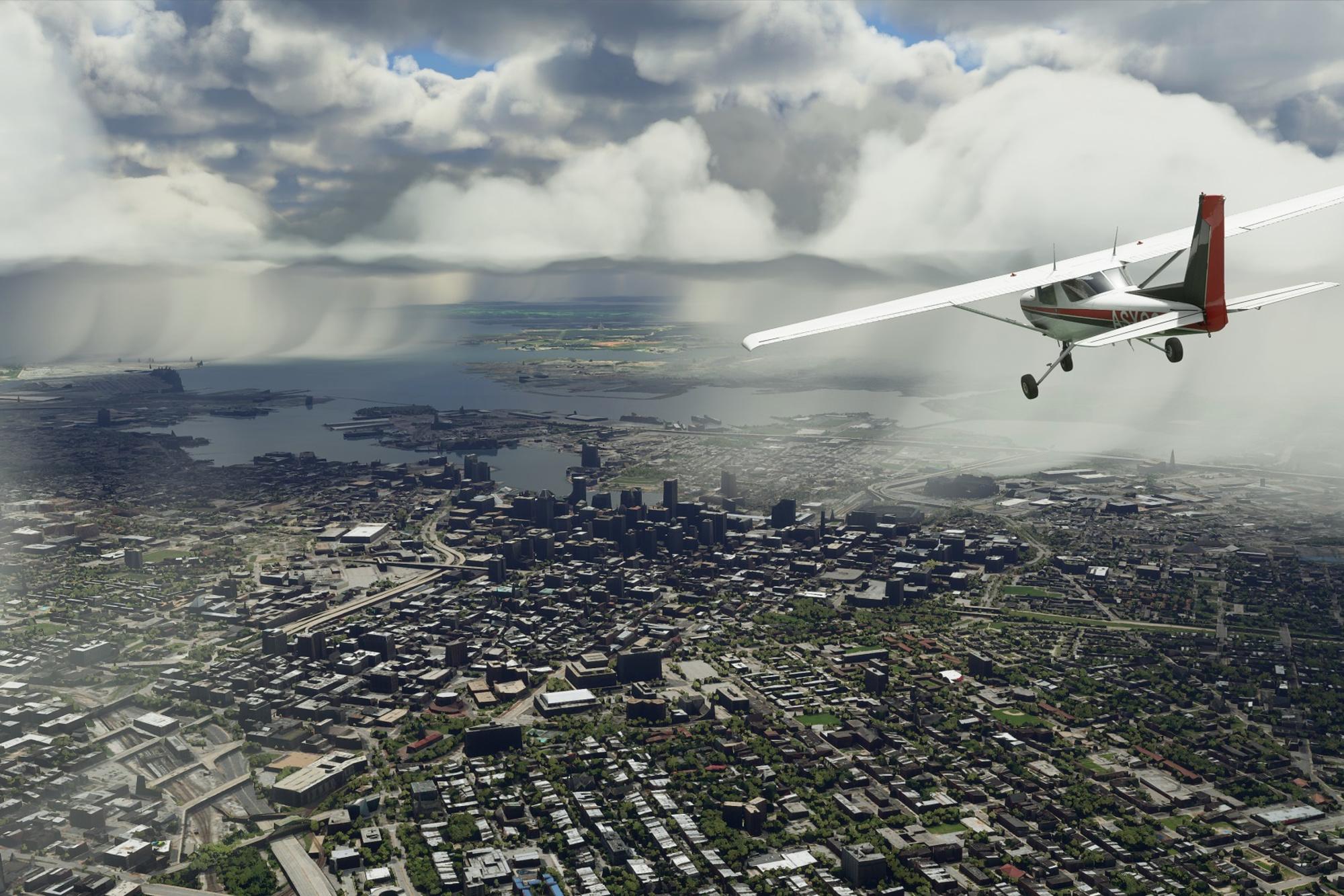 Flight Simulator beeld, Microsoft