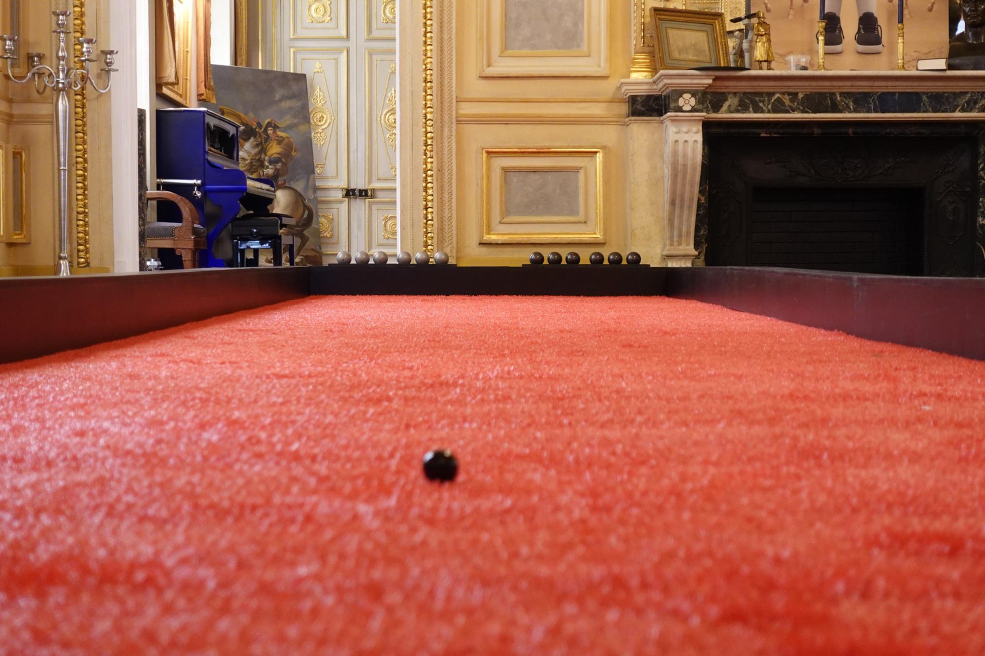 Disponible à l'exportation, la dernière installation de Boogle a eu lieu à Paris, au Palais Vivienne., Boogle
