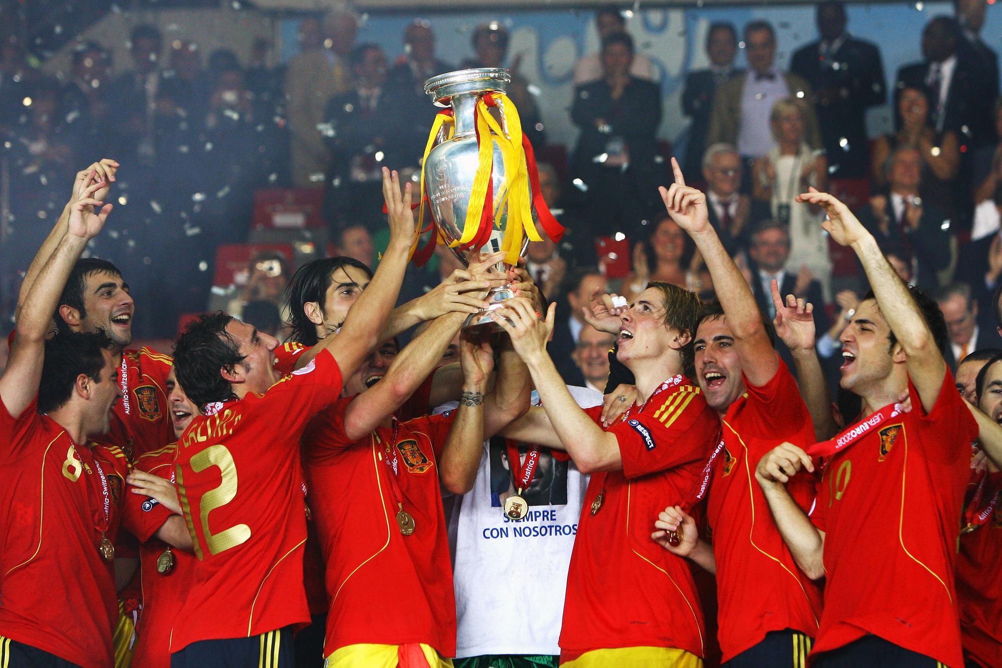 De Europese winst van Spanje in 2008 was het begin van een dominantie van vier jaar, GETTY